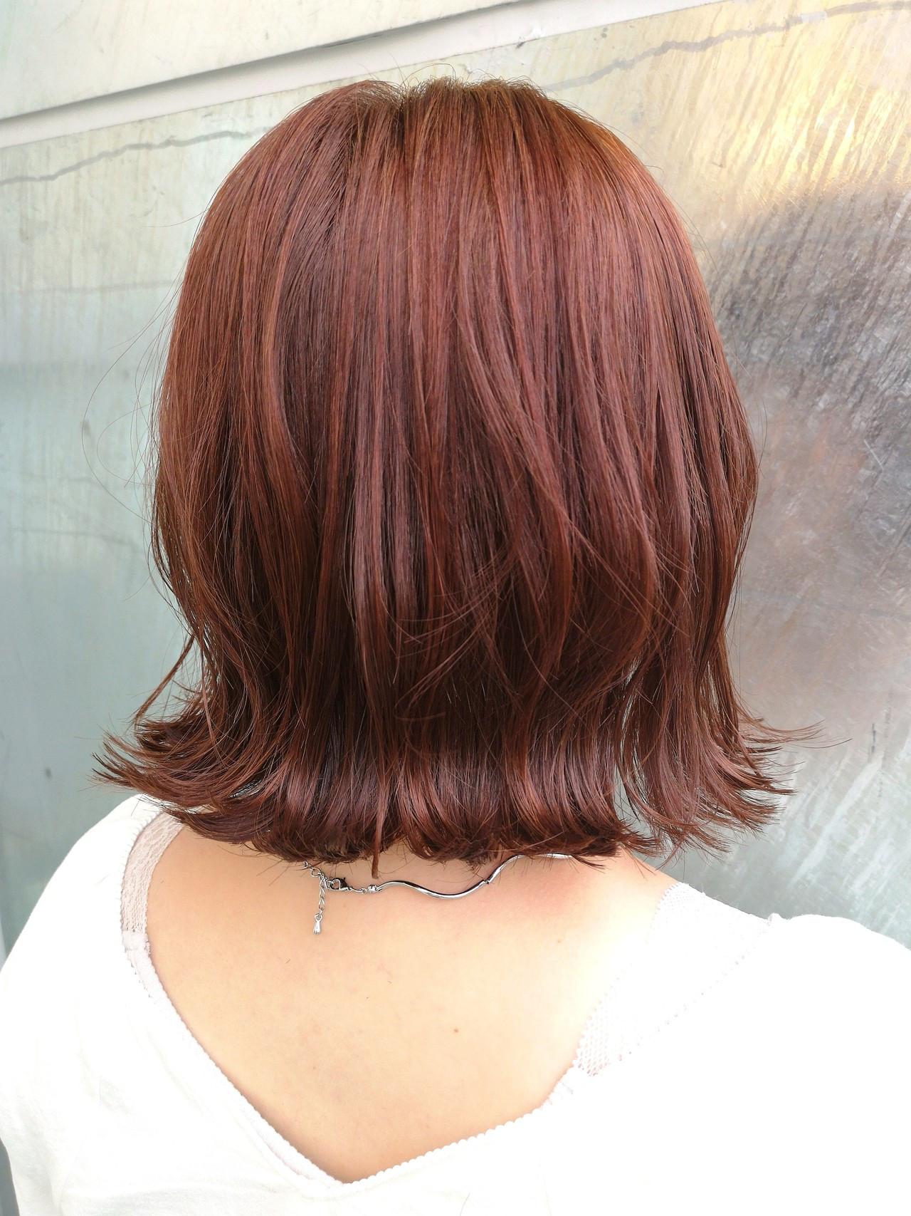 コーラルピンク ピンク ガーリー 大人女子 ヘアスタイルや髪型の写真・画像