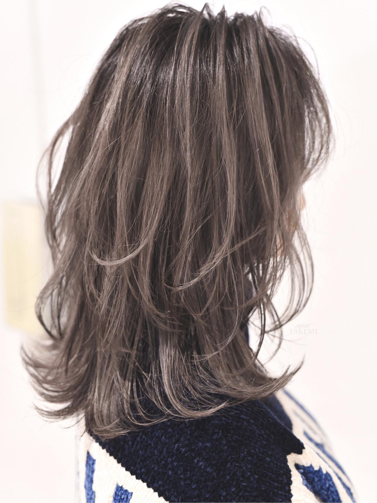 外国人風カラー グレージュ ガーリー ハイライト ヘアスタイルや髪型の写真・画像