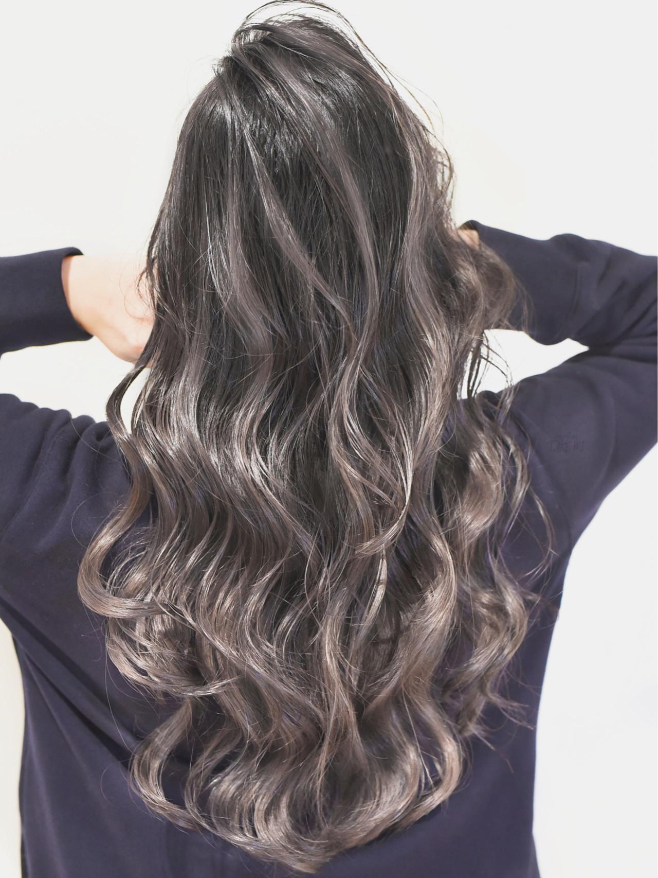 外国人風カラー ガーリー ローライト グレージュ ヘアスタイルや髪型の写真・画像