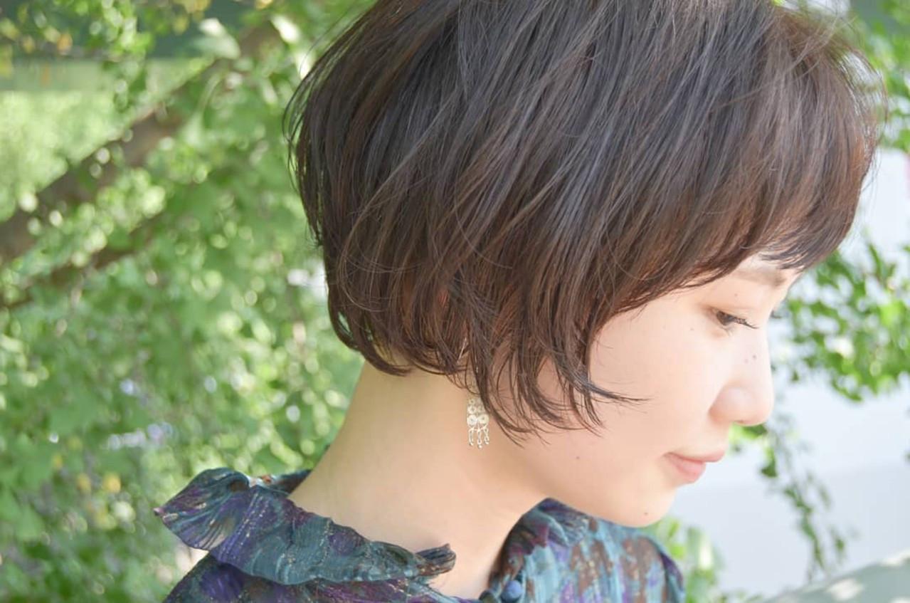ショート ショートボブ ナチュラル 大人かわいい ヘアスタイルや髪型の写真・画像