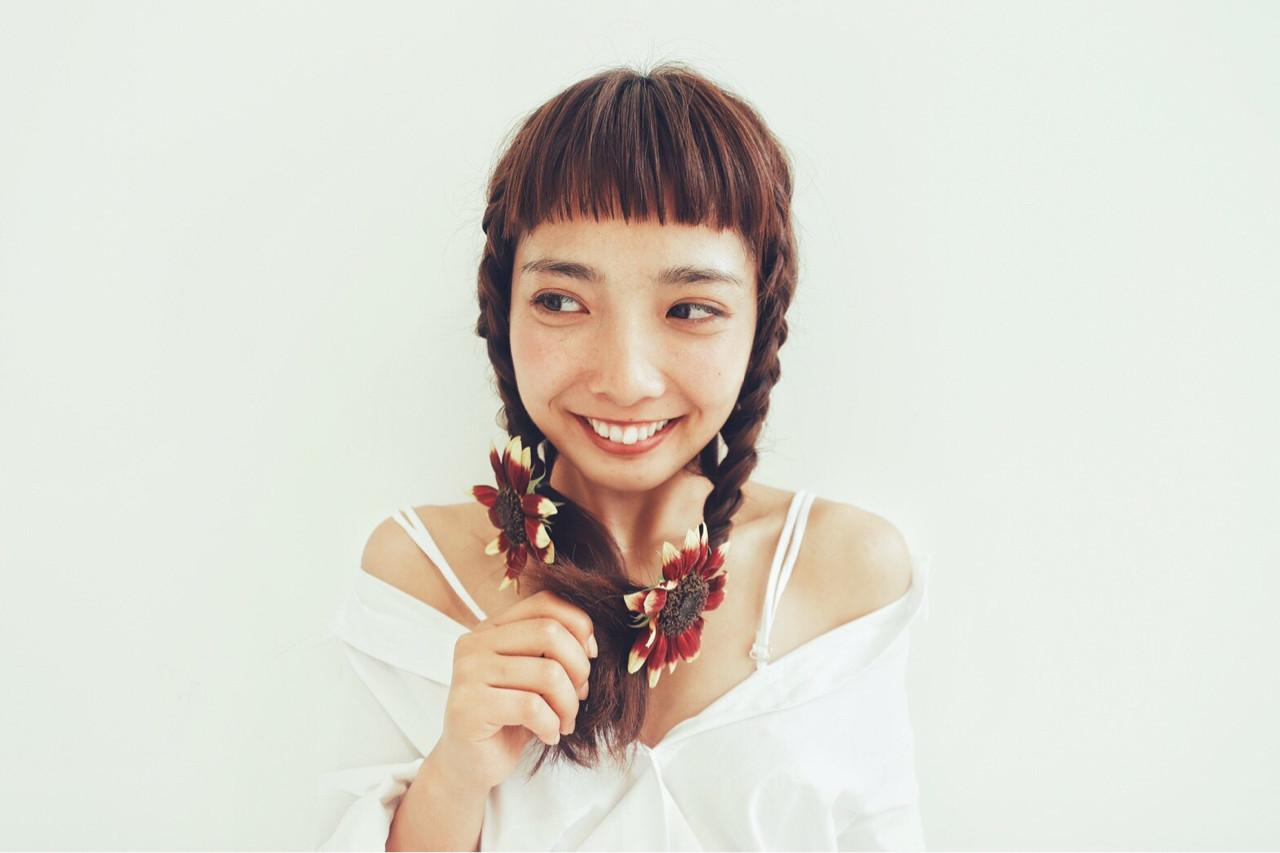 女子会 ヘアアレンジ ガーリー 簡単ヘアアレンジ ヘアスタイルや髪型の写真・画像