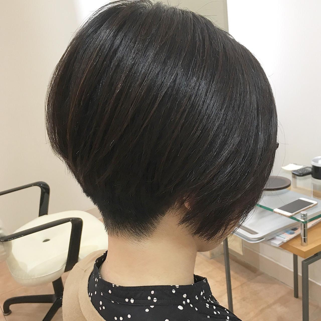 ナチュラル オフィス ボブ ショートボブ ヘアスタイルや髪型の写真・画像