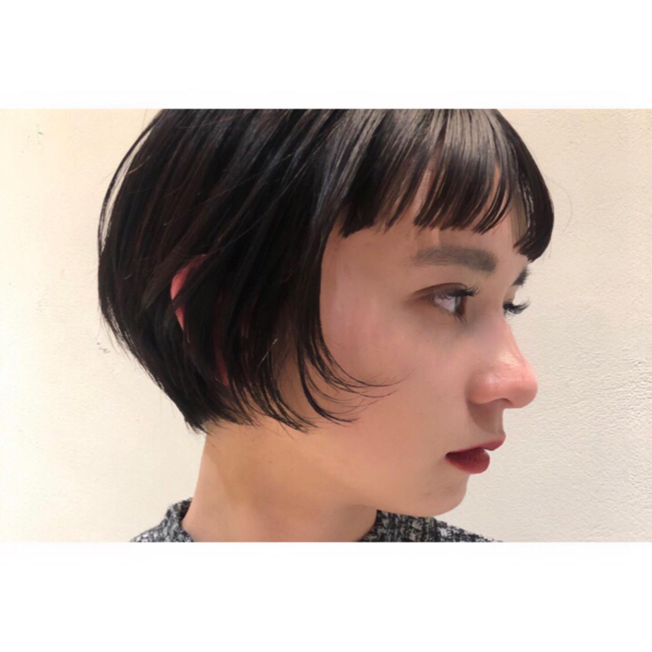 オン眉でキュート♡外国人風ワンカールボブ 細矢裕輔