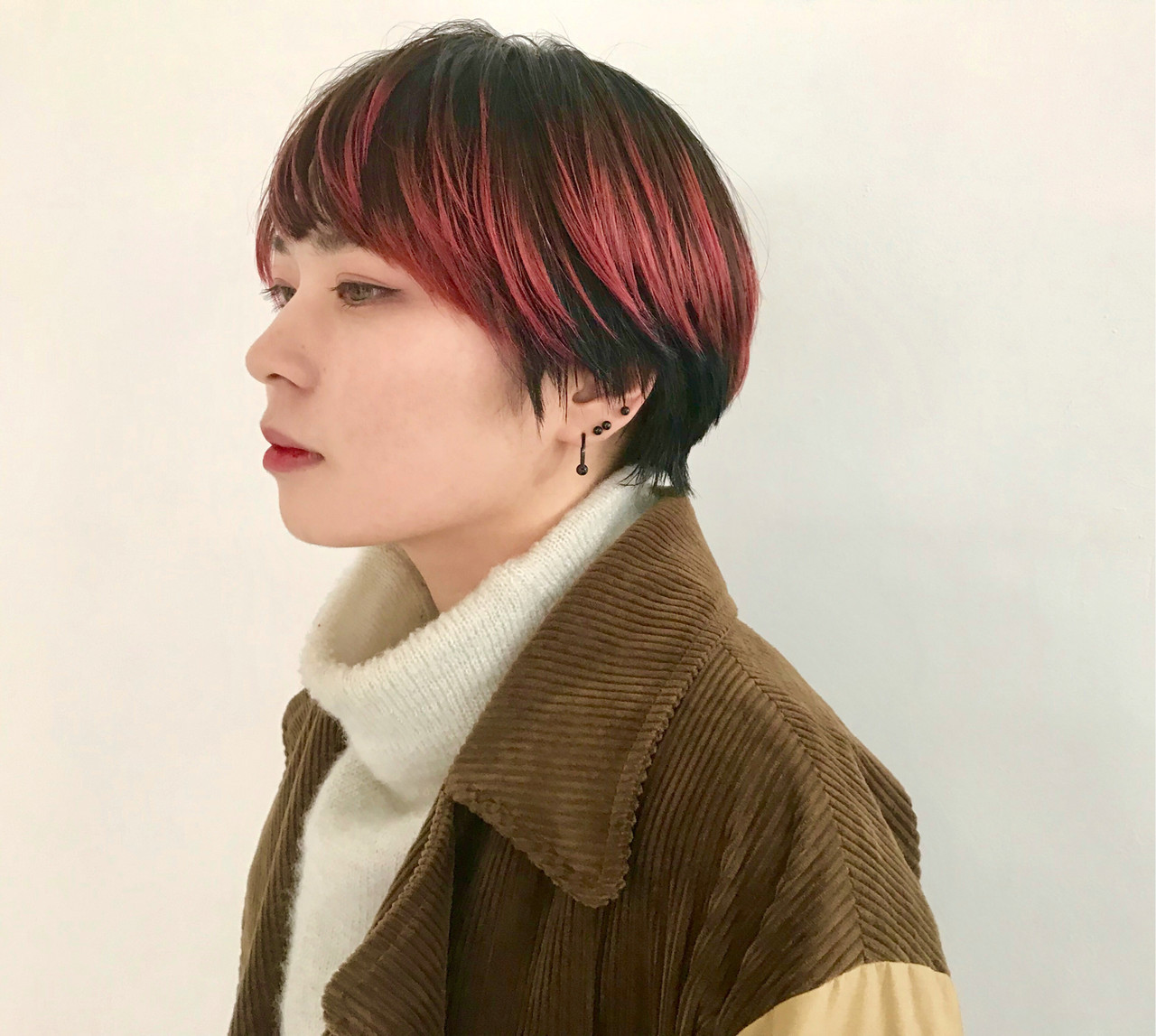 赤髪 ローライト ストリート ショート ヘアスタイルや髪型の写真・画像