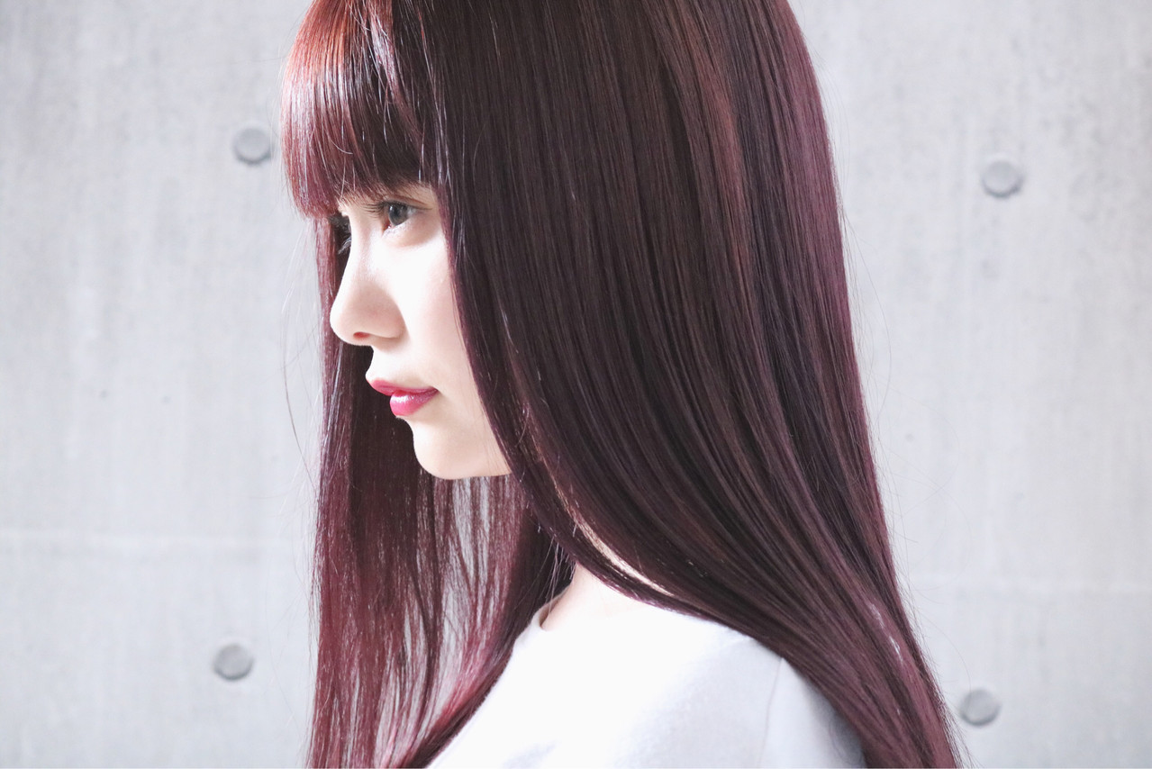 ピンク ロング ピンクアッシュ ピンクパープル ヘアスタイルや髪型の写真・画像