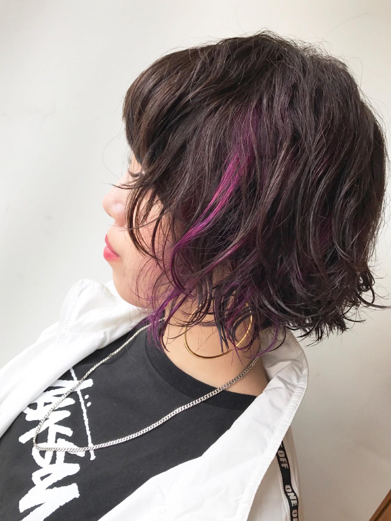 ウェーブパーマ×ピンクでおしゃれっぽヘアに♡ Hiro【morio London】