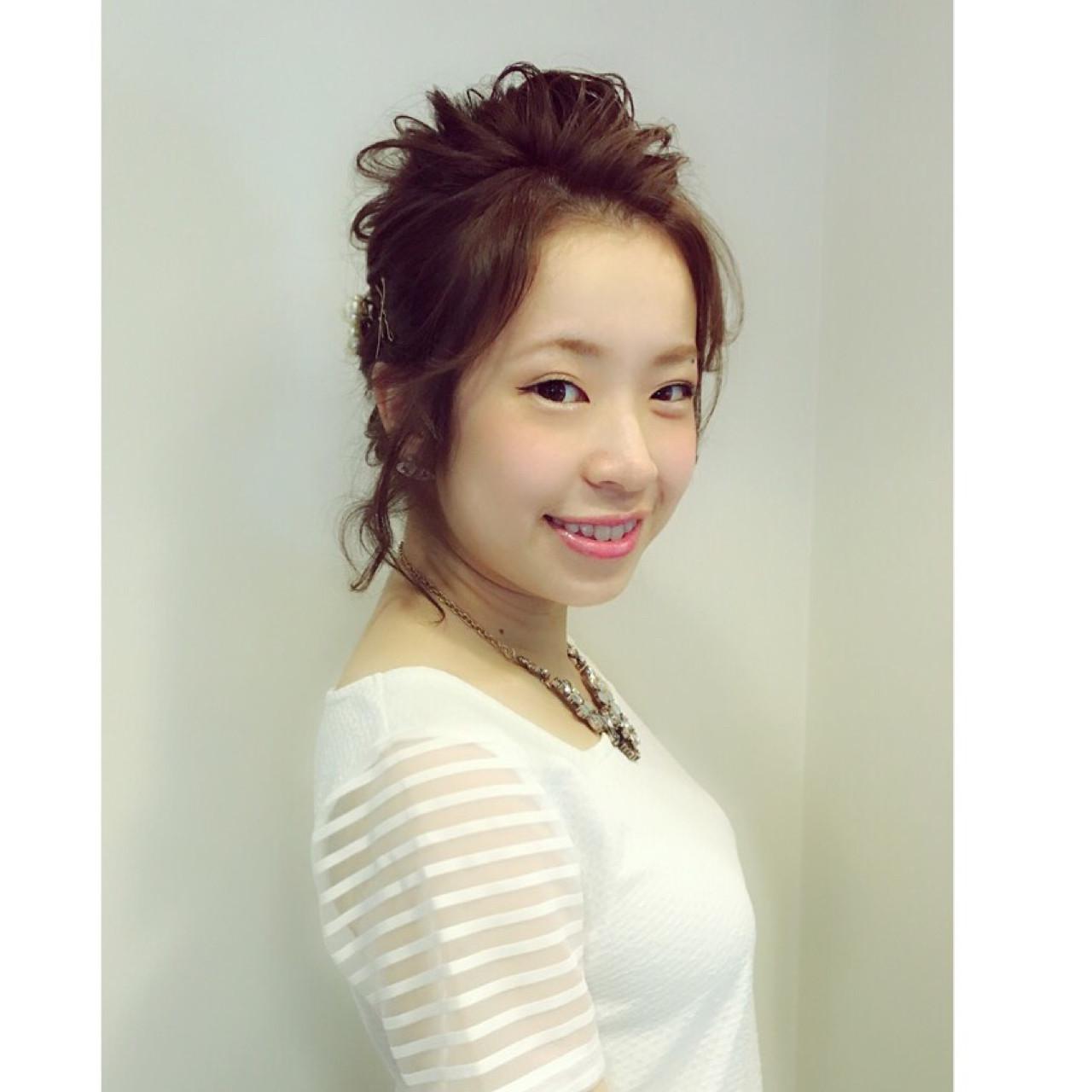 前髪少ない人もOK♡お呼ばれの似合わせヘア Kasumi Nishimoto