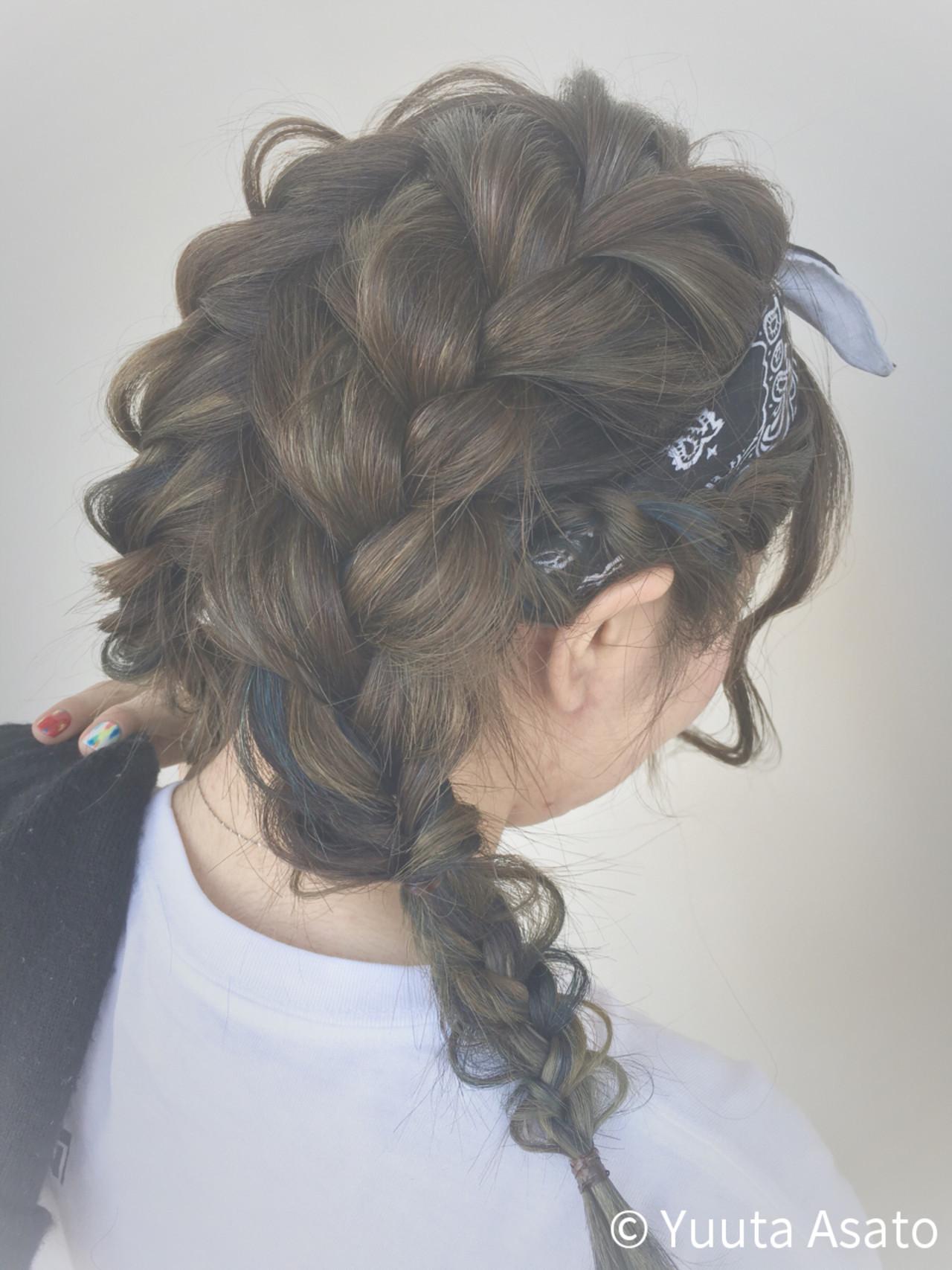 デートに♡三つ編みツインテールヘアバンドヘア Yuuta Asato
