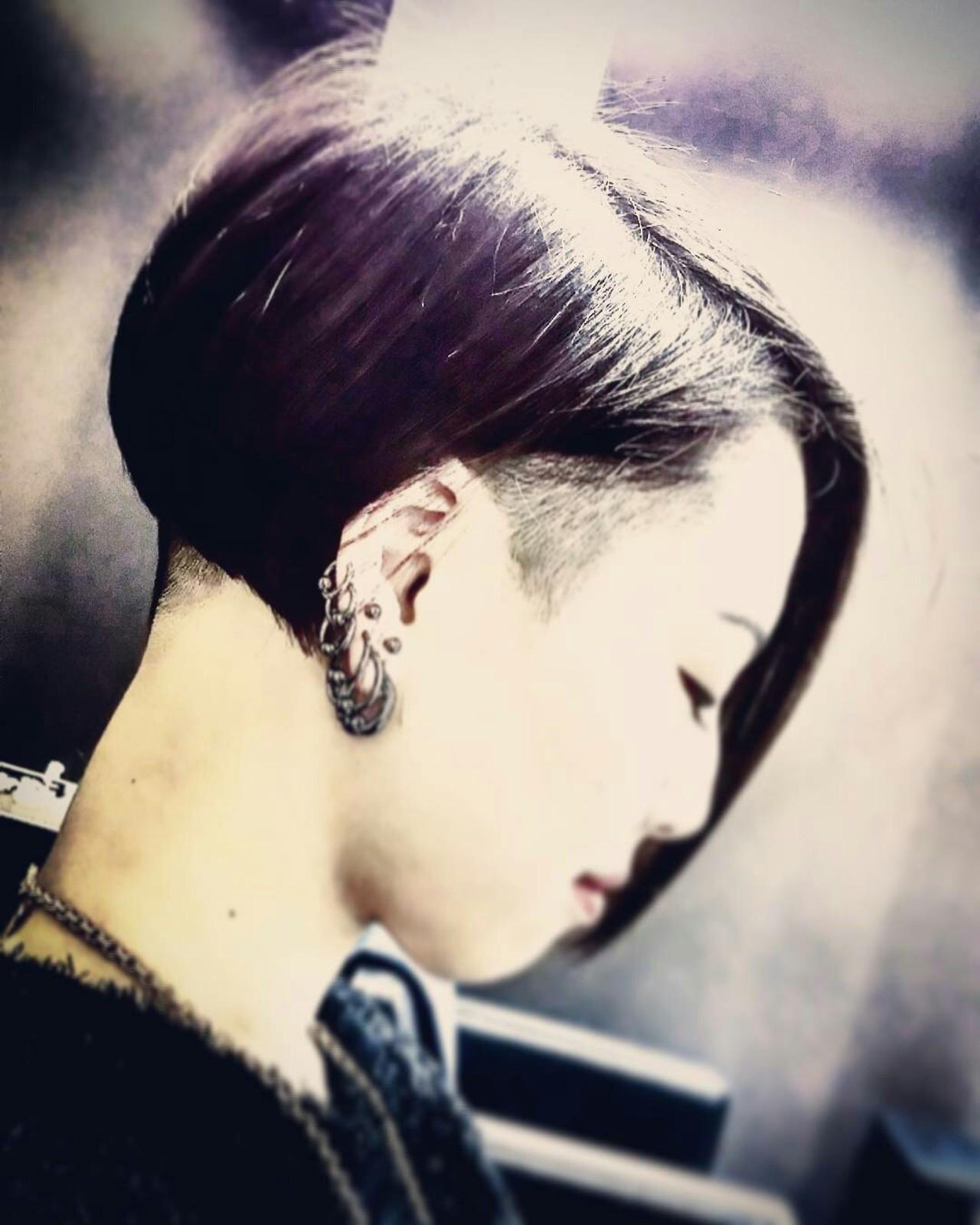 刈り上げ モード ショート 坊主 ヘアスタイルや髪型の写真・画像