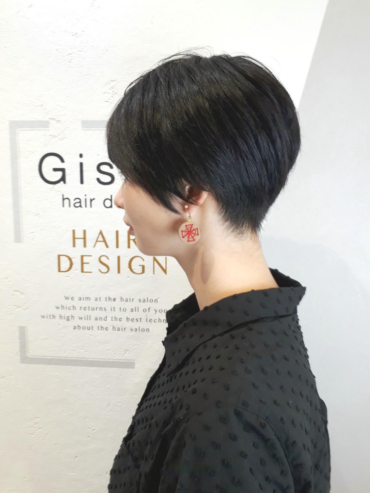 ベリーショート ツーブロック ボーイッシュ モード ヘアスタイルや髪型の写真・画像