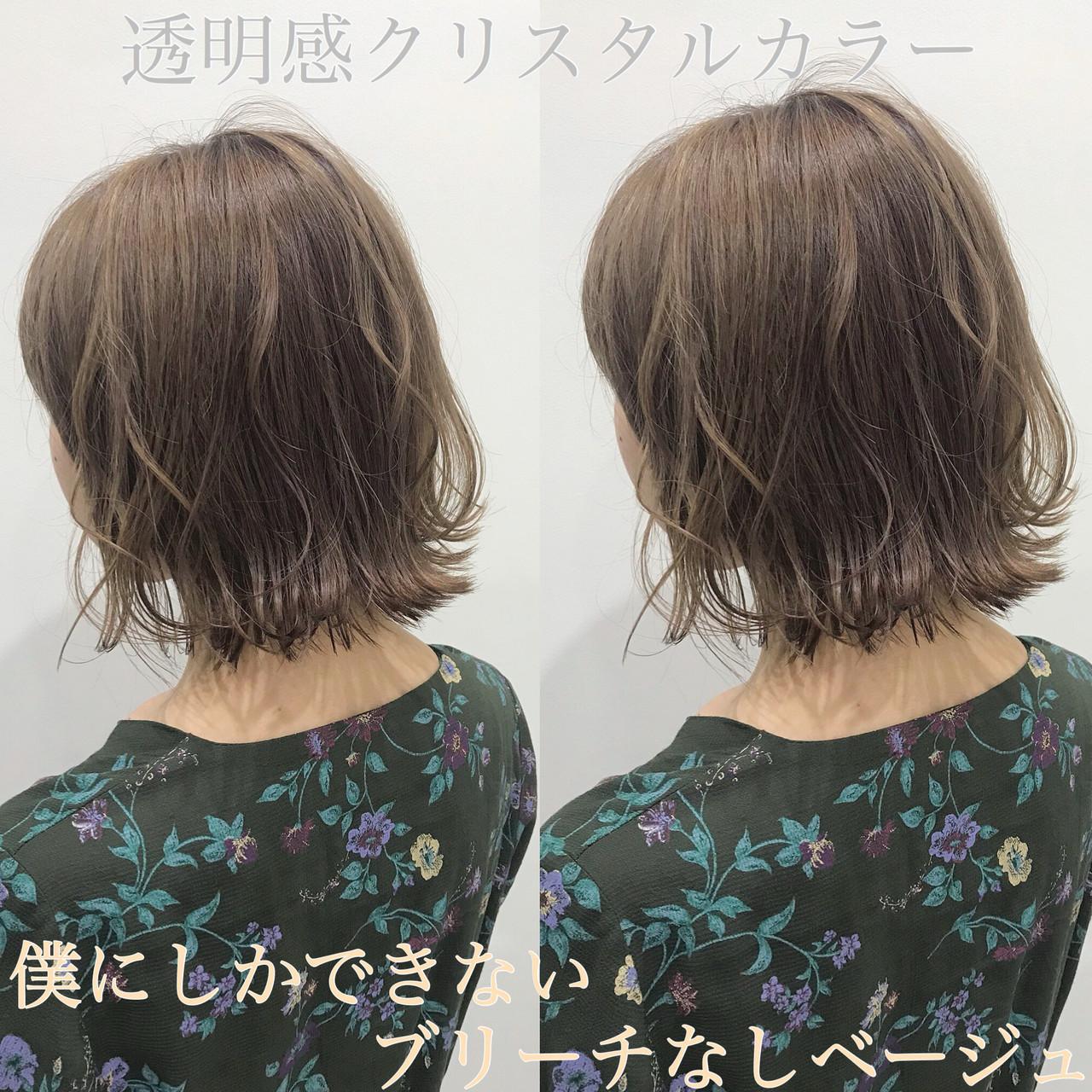 外ハネと表面の髪の毛だけにアイロンで簡単ヘアに 長田 タカラ
