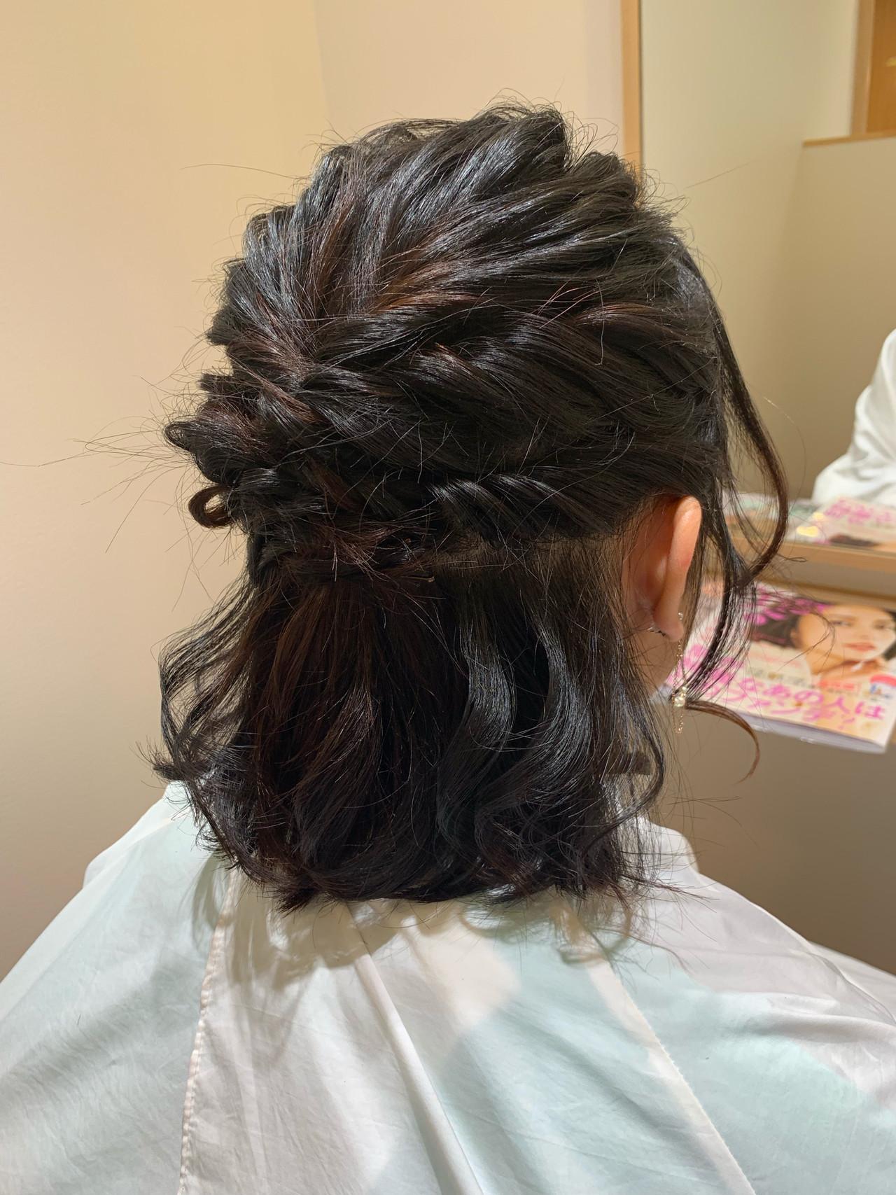ヘアアレンジ 成人式 くるりんぱ 結婚式 ヘアスタイルや髪型の写真・画像