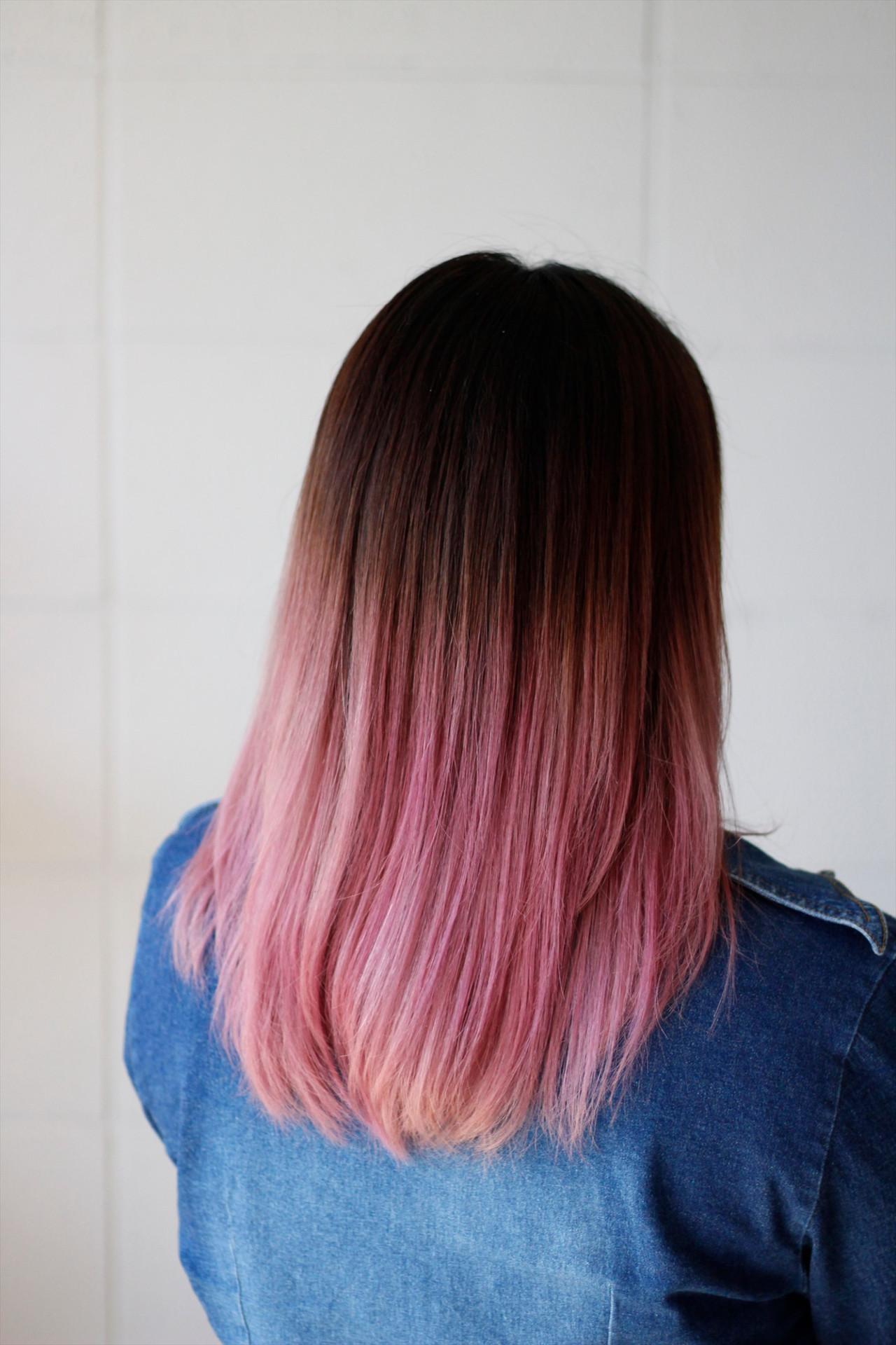 シンプルに美しい♡セミロングのサクラグラデーションカラー Hatori Masakirela hair salon