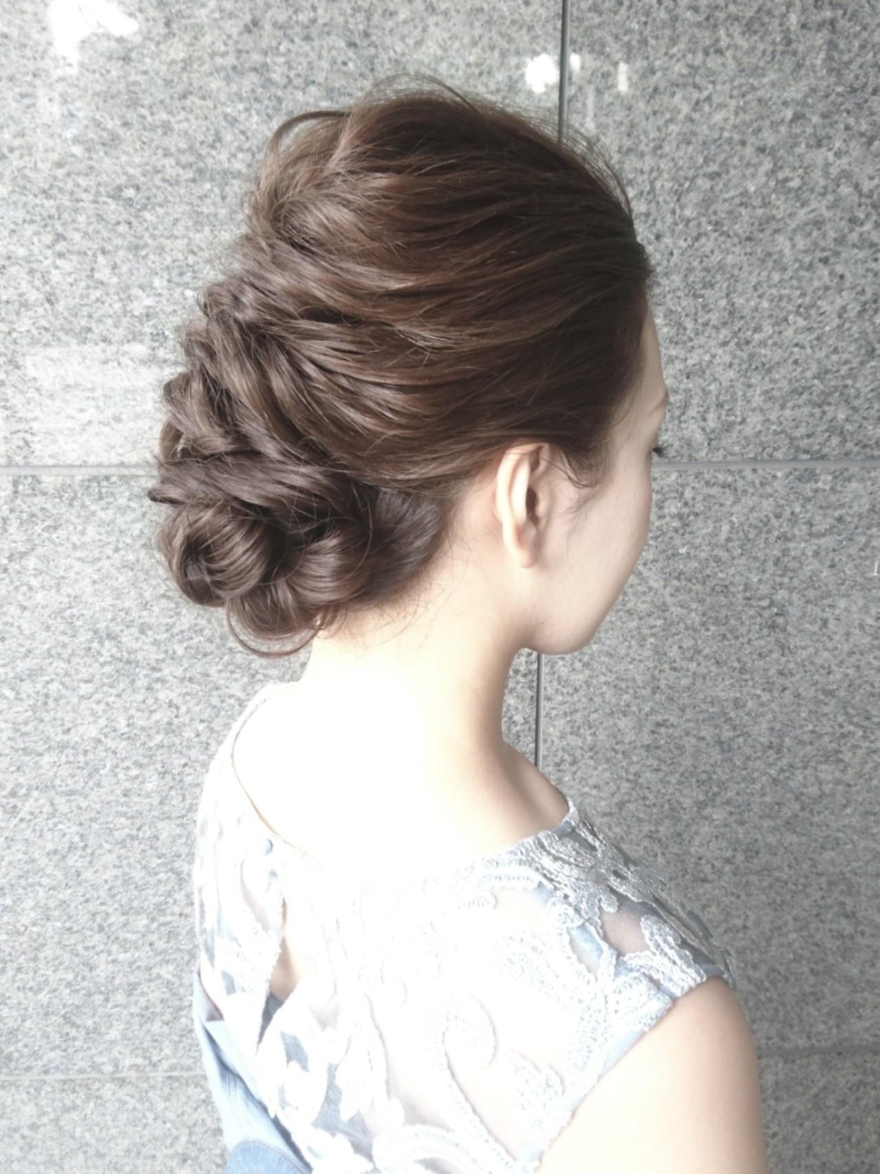 エレガント ブライダル 結婚式 ロング ヘアスタイルや髪型の写真・画像