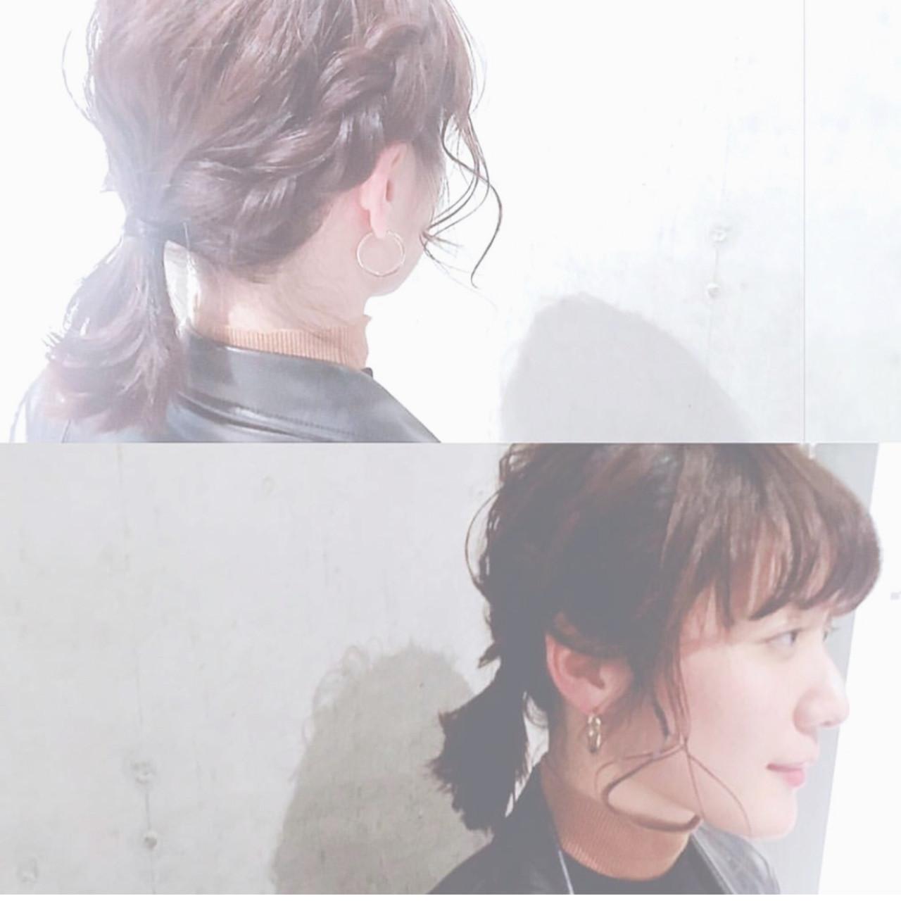 編み込み×ひとつ結びのすっきりヘアスタイル haruca shiono