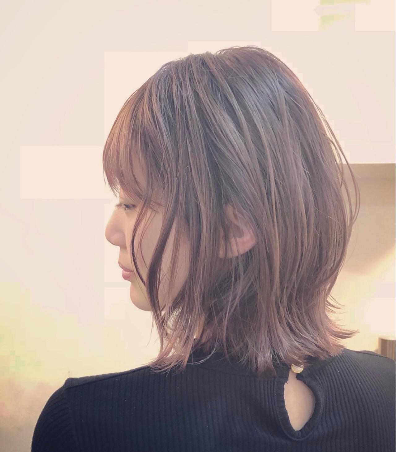 大人セクシーになれるナチュラルなピンクグラデーションのショートヘア RUMINA //高田ゆみこRumina