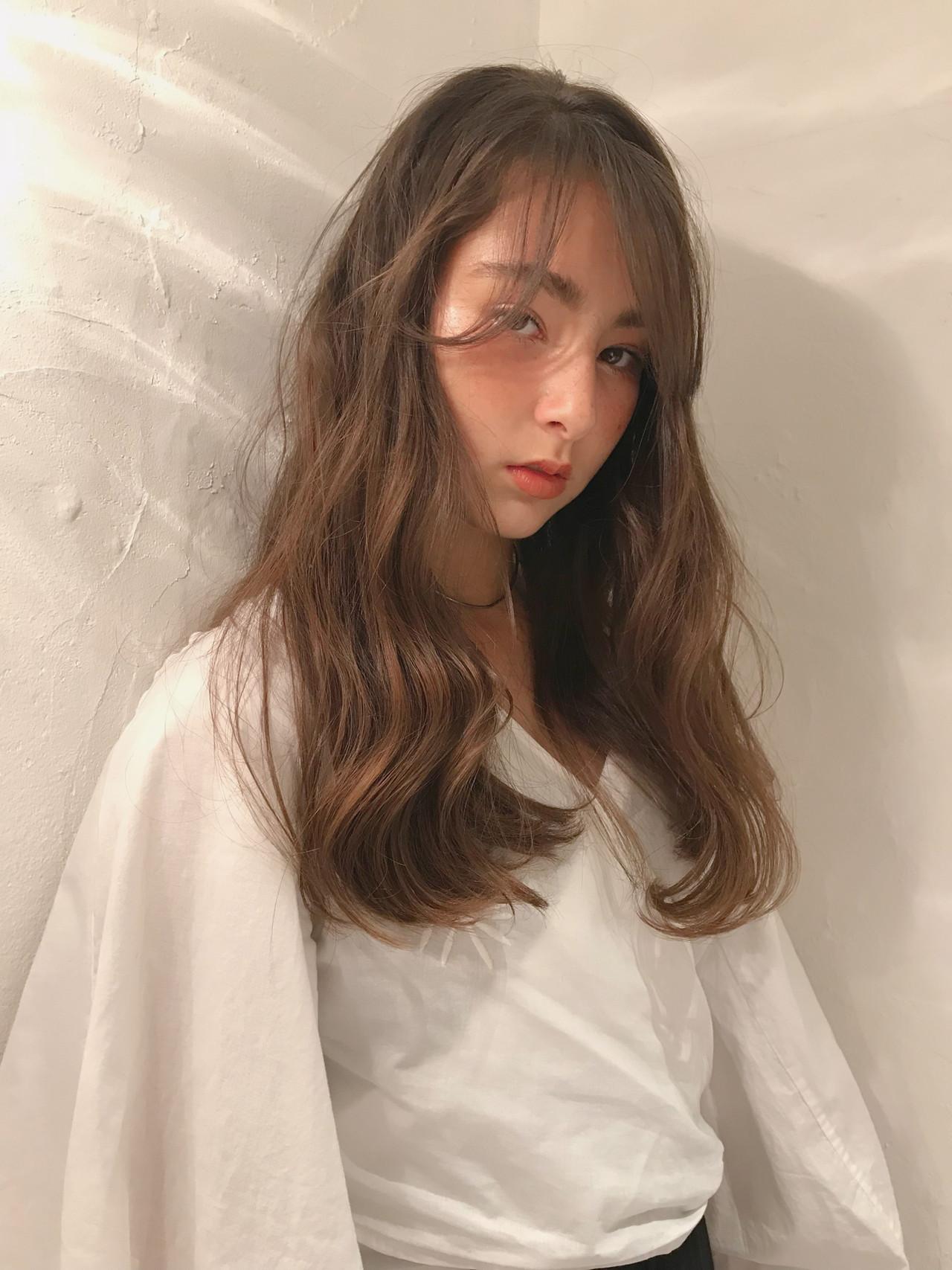 デート ナチュラル 大人ハイライト 簡単ヘアアレンジ ヘアスタイルや髪型の写真・画像