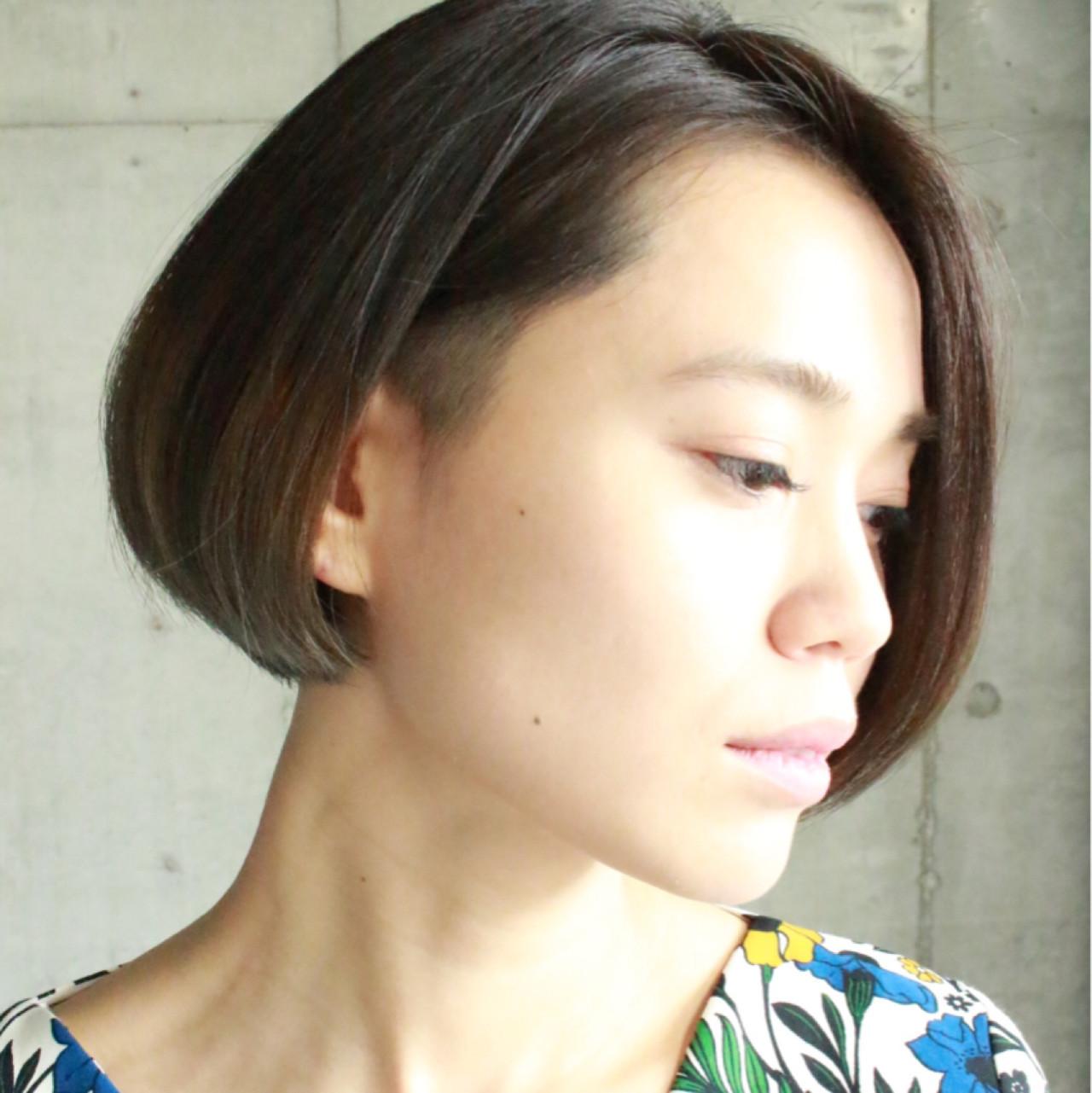モード 刈り上げ ボブ 大人女子 ヘアスタイルや髪型の写真・画像