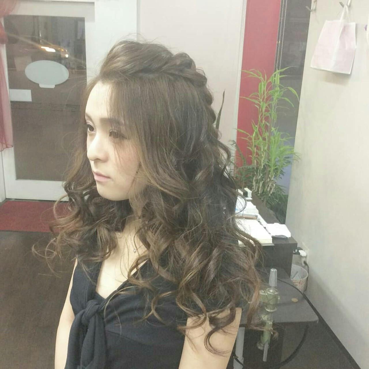 編み込みでつくる♡華やか見せの前髪ポンパドールヘア♡ rumiLINKS美容室