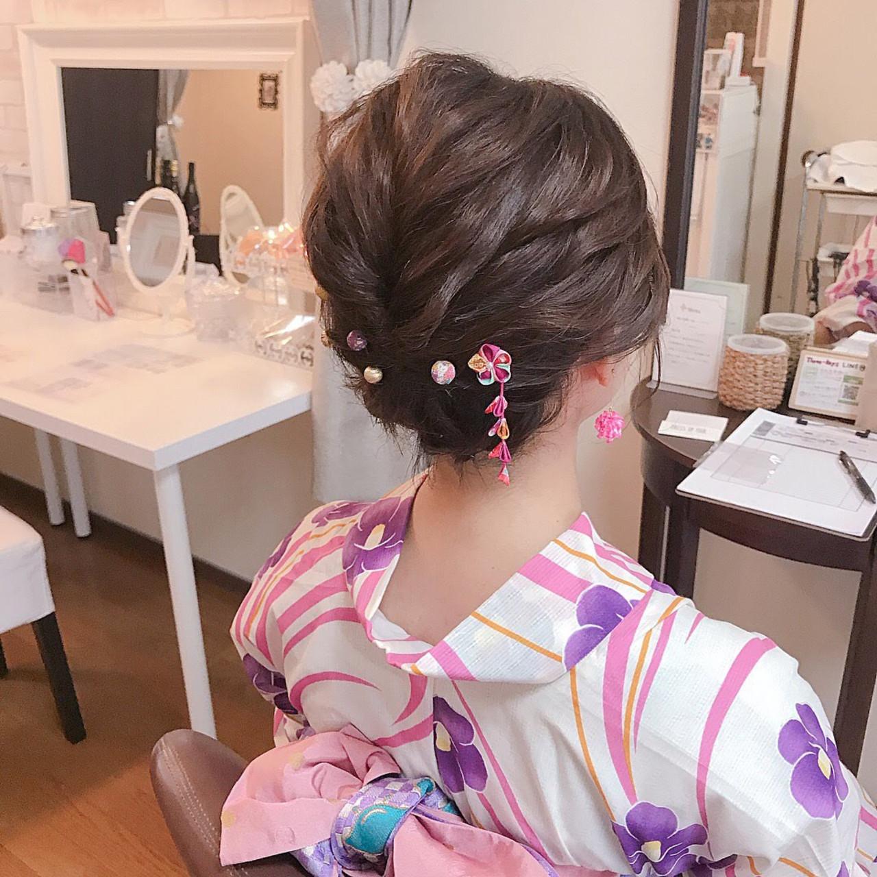 きっちり編んで♡すっきり見せの着物に合わせヘア Moriyama Mami