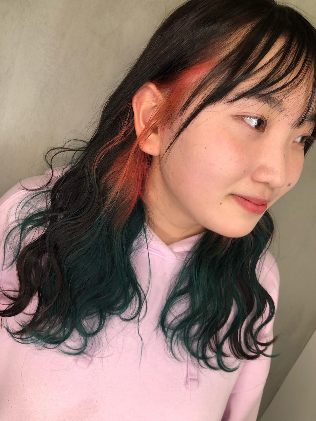 アクセントカラーになれる♡ミディアムヘアの個性派ピンクグラデーション 筒井 隆由Hair salon mode