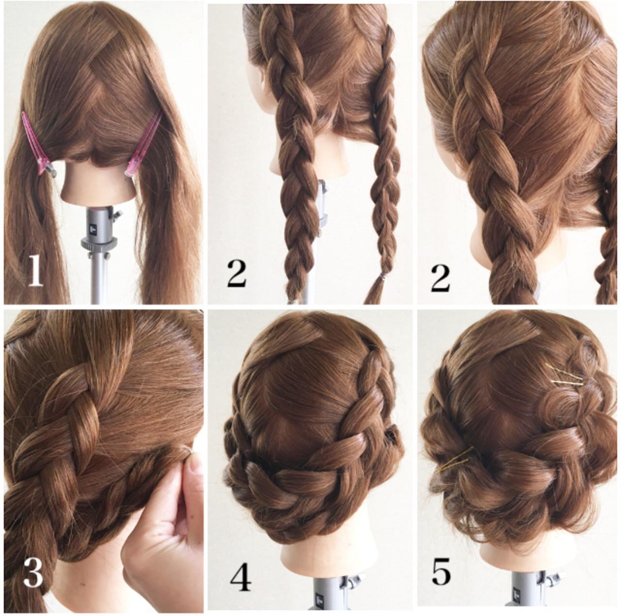 デート ヘアアレンジ アンニュイほつれヘア 裏編み込み ヘアスタイルや髪型の写真・画像