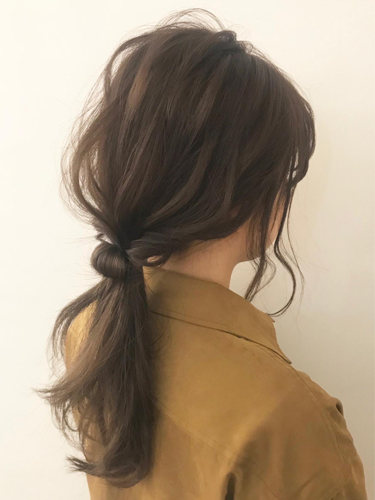 デート ヘアアレンジ ナチュラル 黒髪 ヘアスタイルや髪型の写真・画像