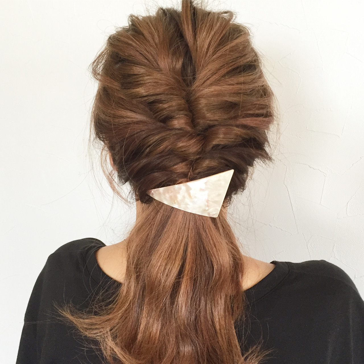 くるりんぱを三段で立体ポニーテール 大西未紗HAIR LEAP