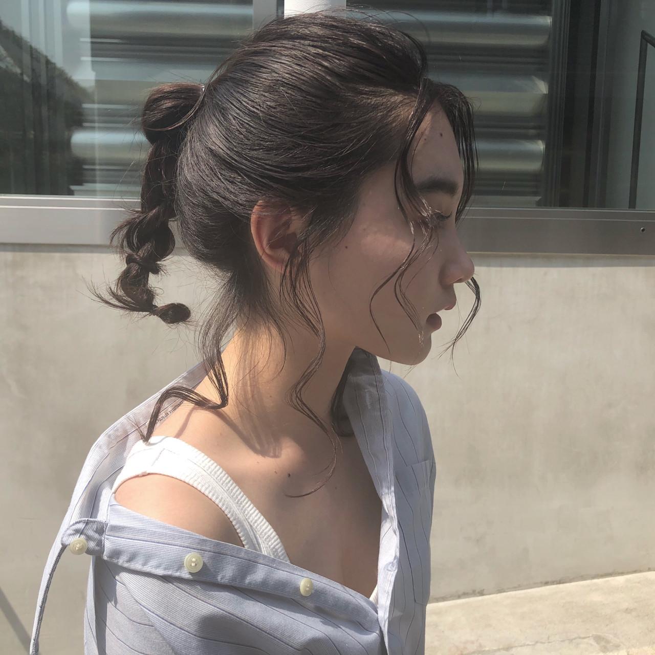ポニテ×三つ編みの涼しげヘアスタイル☆ 渡邊 涼
