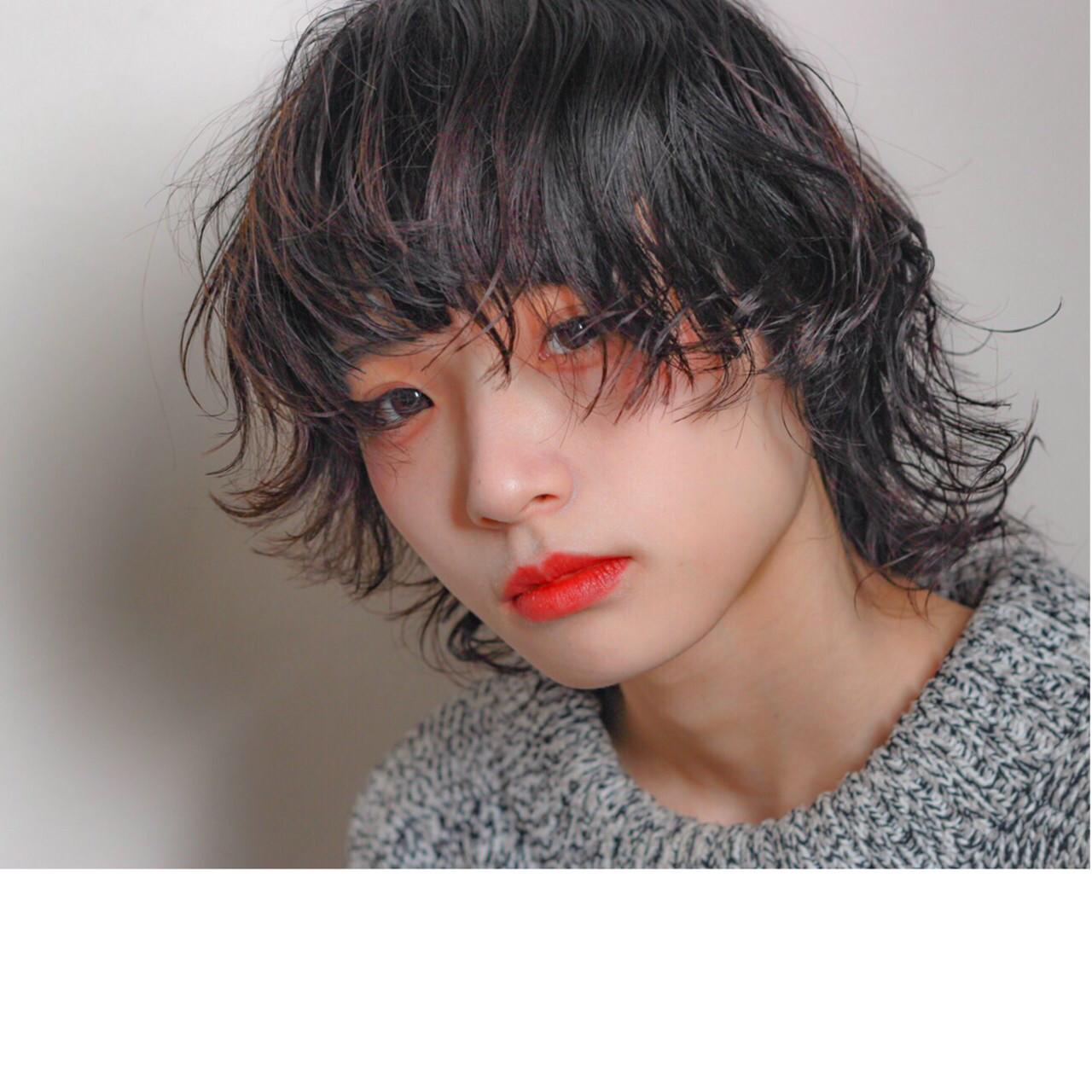 ウルフ女子 ウルフパーマヘア パーマ ウルフカット ヘアスタイルや髪型の写真・画像