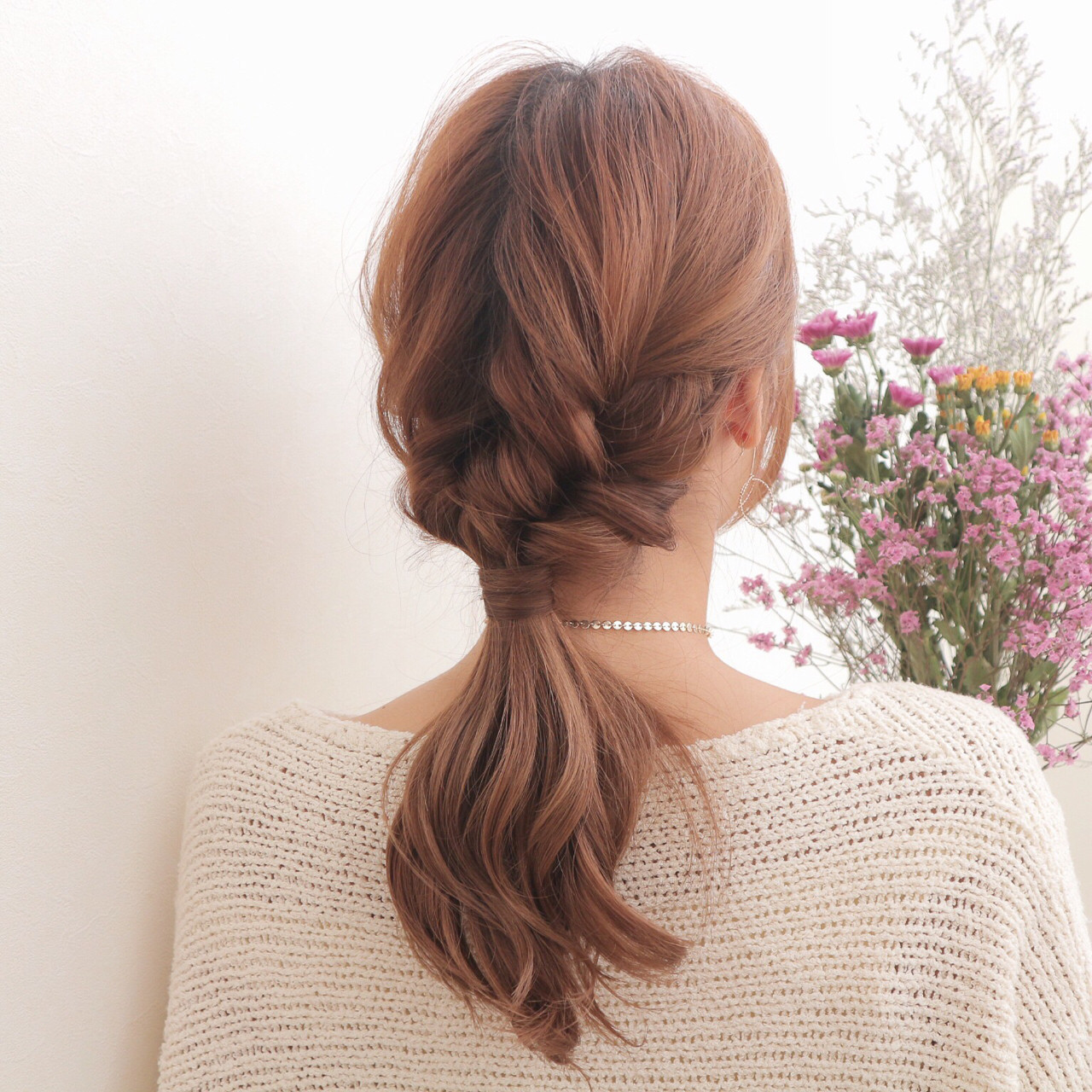 三つ編みとくるりんぱで編みおろし風アレンジ 桑村亮太/CALIF hair store函館/CALIF hair store/キャリフ ヘアストア