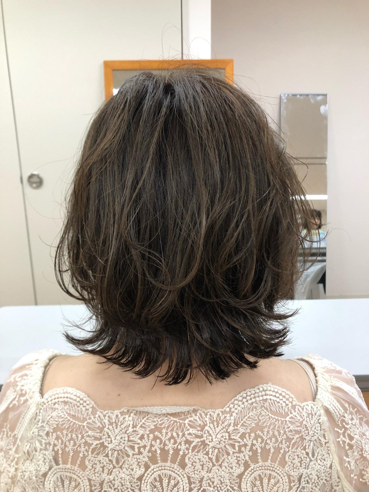 デート パーマ ヘアアレンジ ボブ ヘアスタイルや髪型の写真・画像