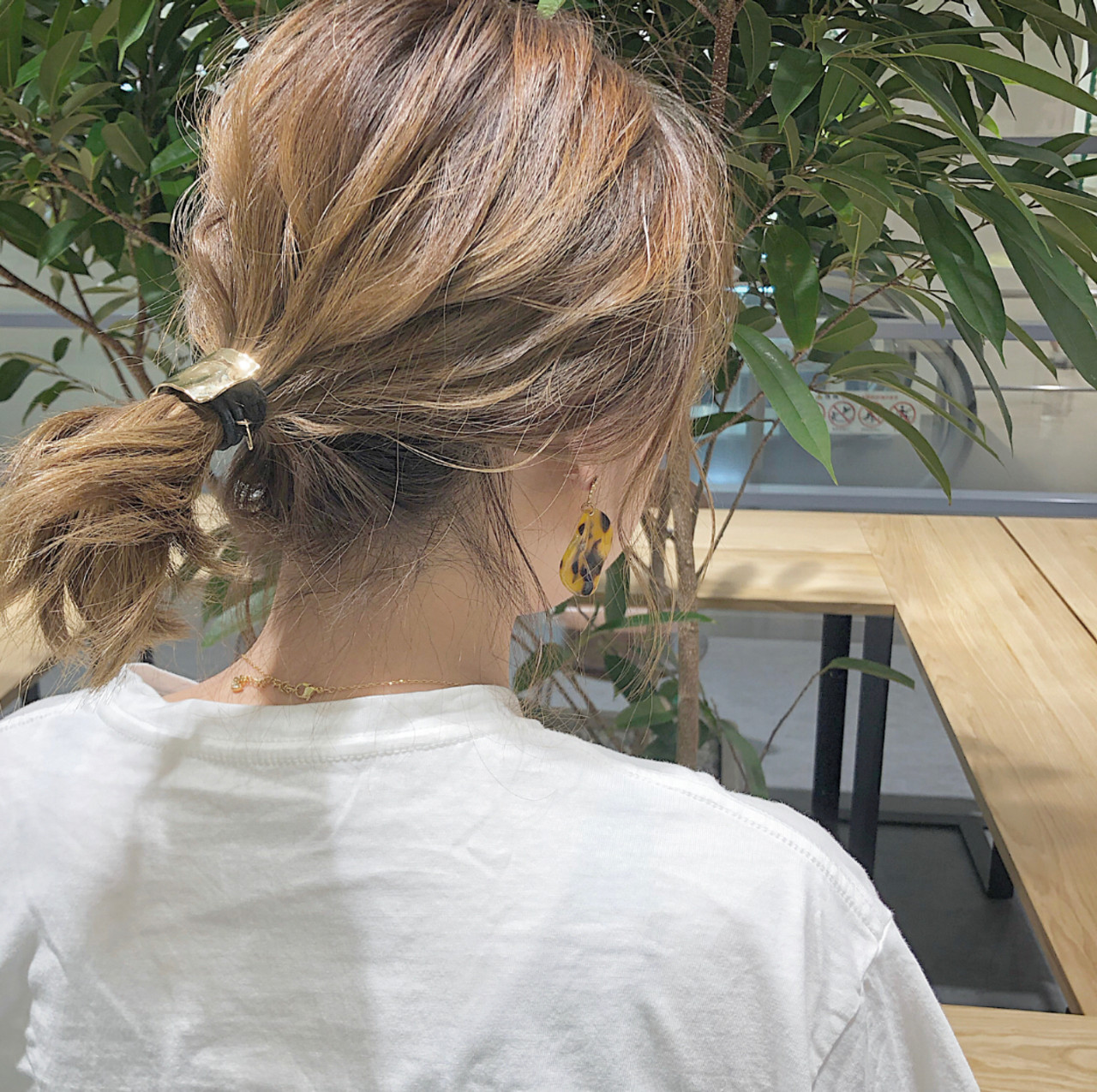 簡単ヘアアレンジ 切りっぱなし デート ボブ ヘアスタイルや髪型の写真・画像