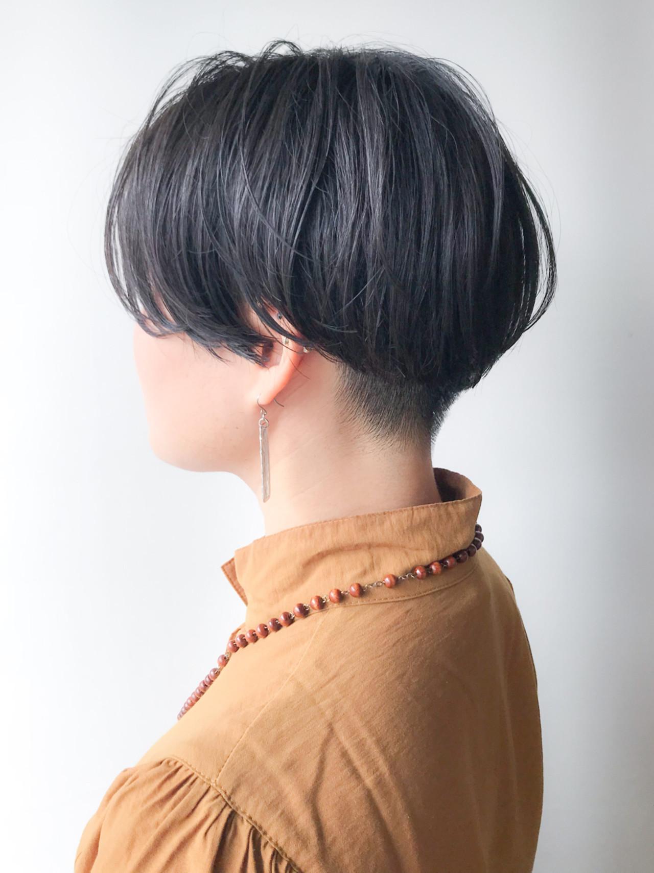 刈り上げ モード 大人かわいい ショート ヘアスタイルや髪型の写真・画像