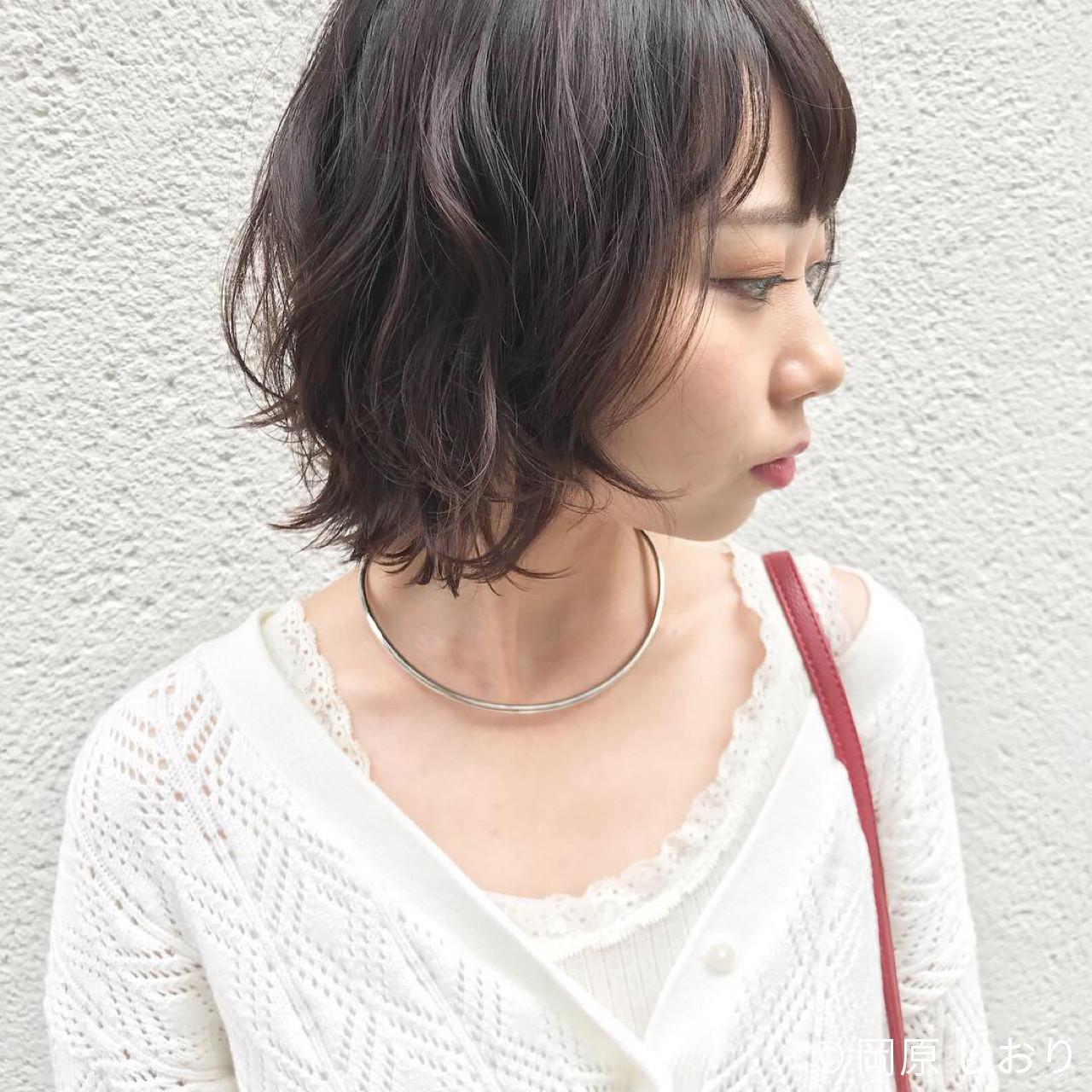 ウルフカット 女子力 ボブ 外ハネ ヘアスタイルや髪型の写真・画像