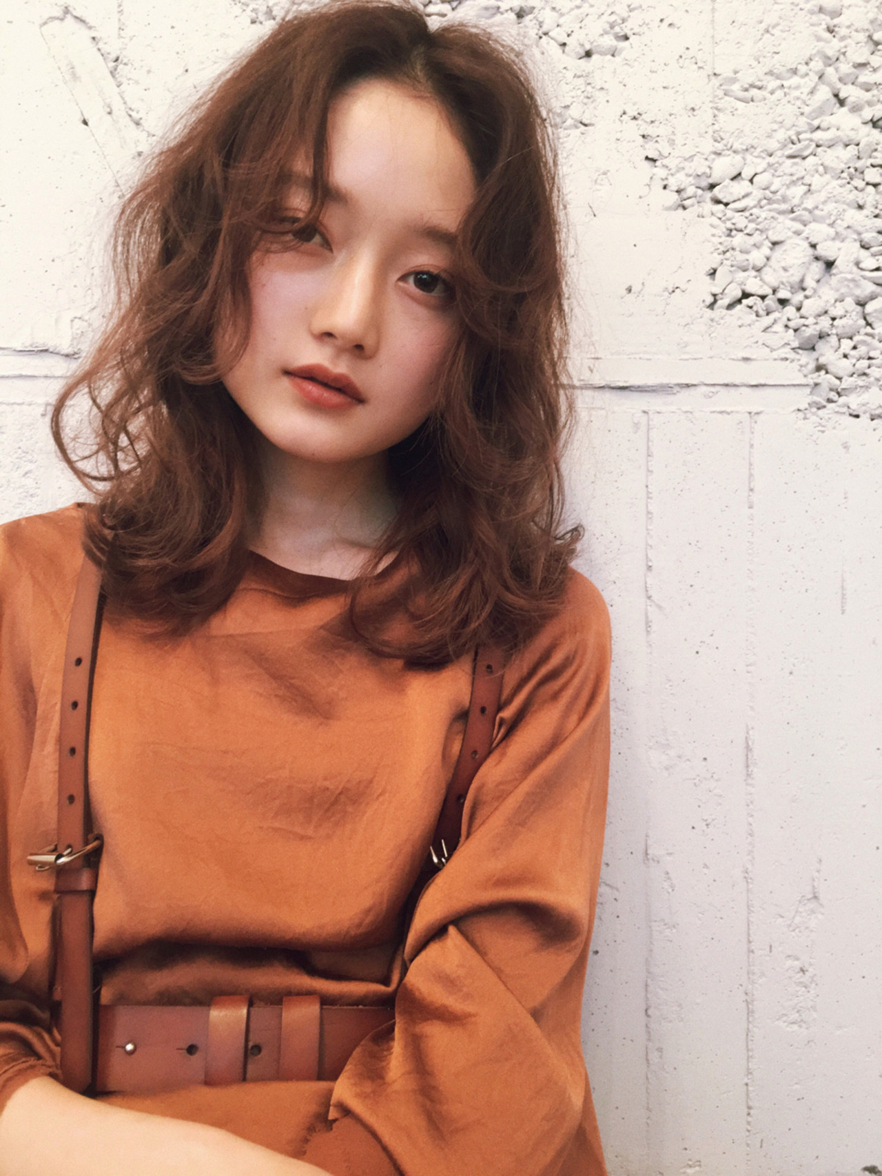マッシュ アンニュイ ミディアム ナチュラル ヘアスタイルや髪型の写真・画像