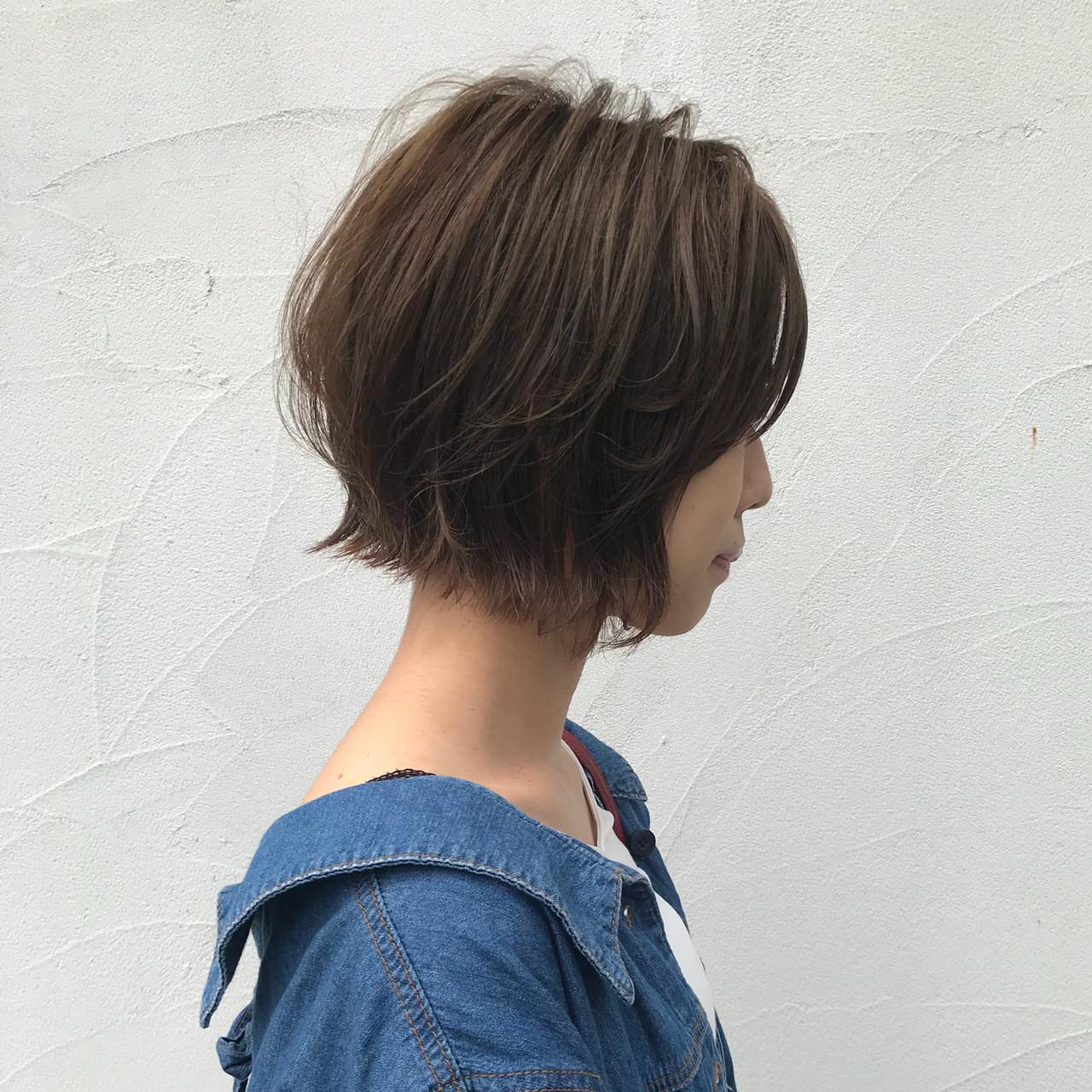 ストリート パーマ 切りっぱなし 外ハネボブ ヘアスタイルや髪型の写真・画像