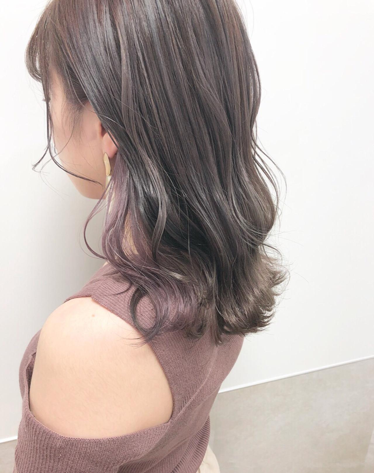ピンクを仕込んだ明るめカラーミディアム hii.de@✂︎