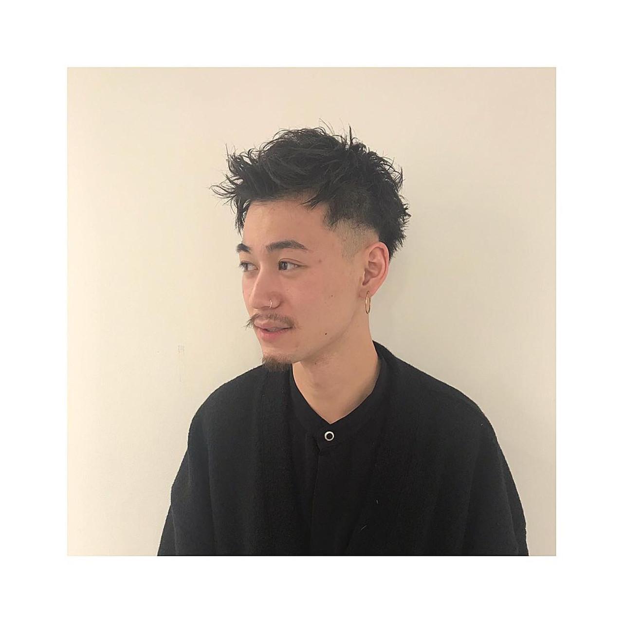 くせ毛 スキンフェード ショート メンズカット ヘアスタイルや髪型の写真・画像