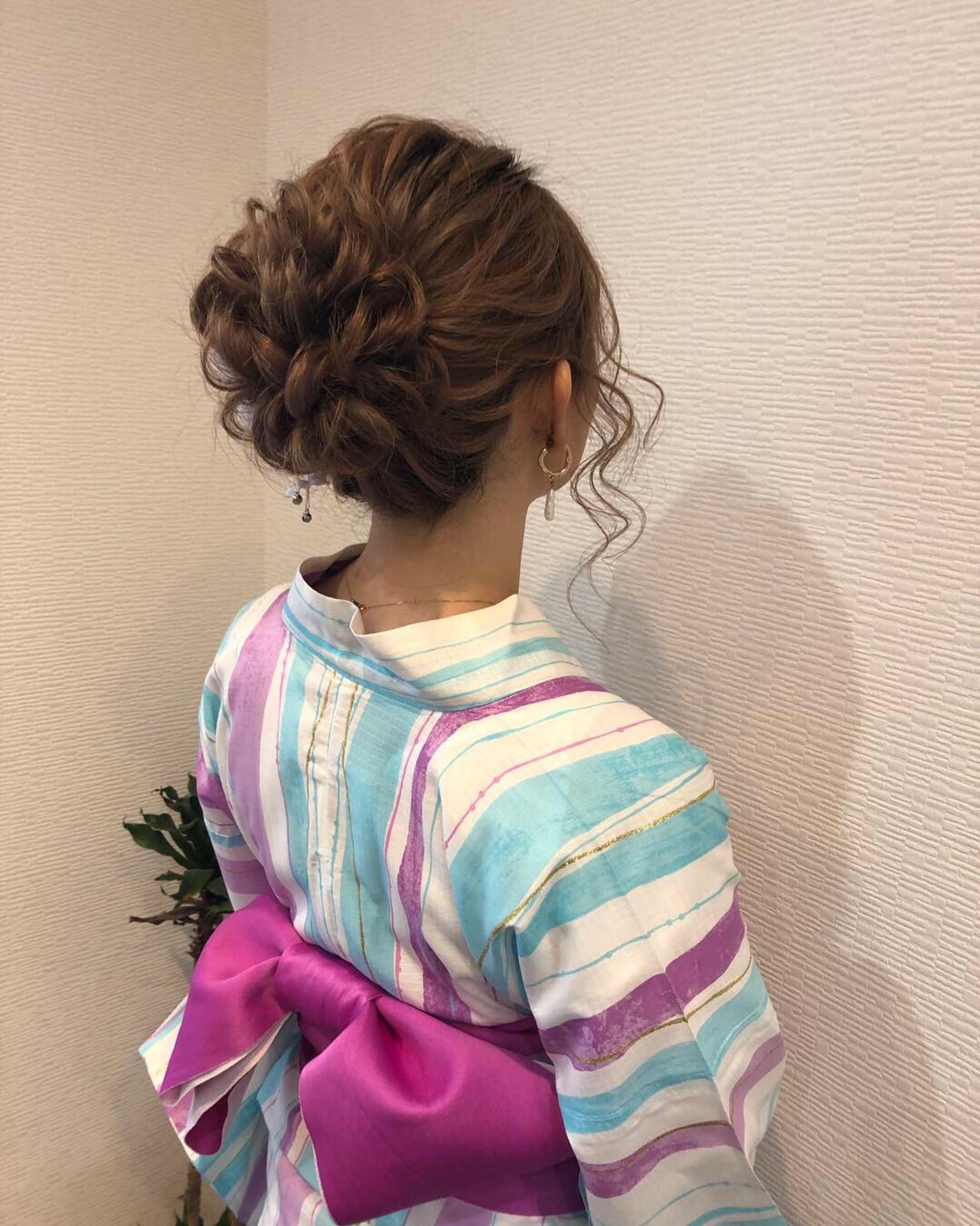 ふんわり可愛くなれるミディアムヘアの袴用アレンジ maiHAIR SALON STELLA
