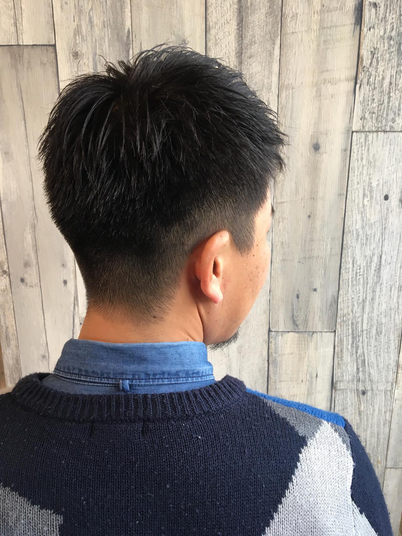メンズヘア フェードカット ショート 刈り上げショート ヘアスタイルや髪型の写真・画像