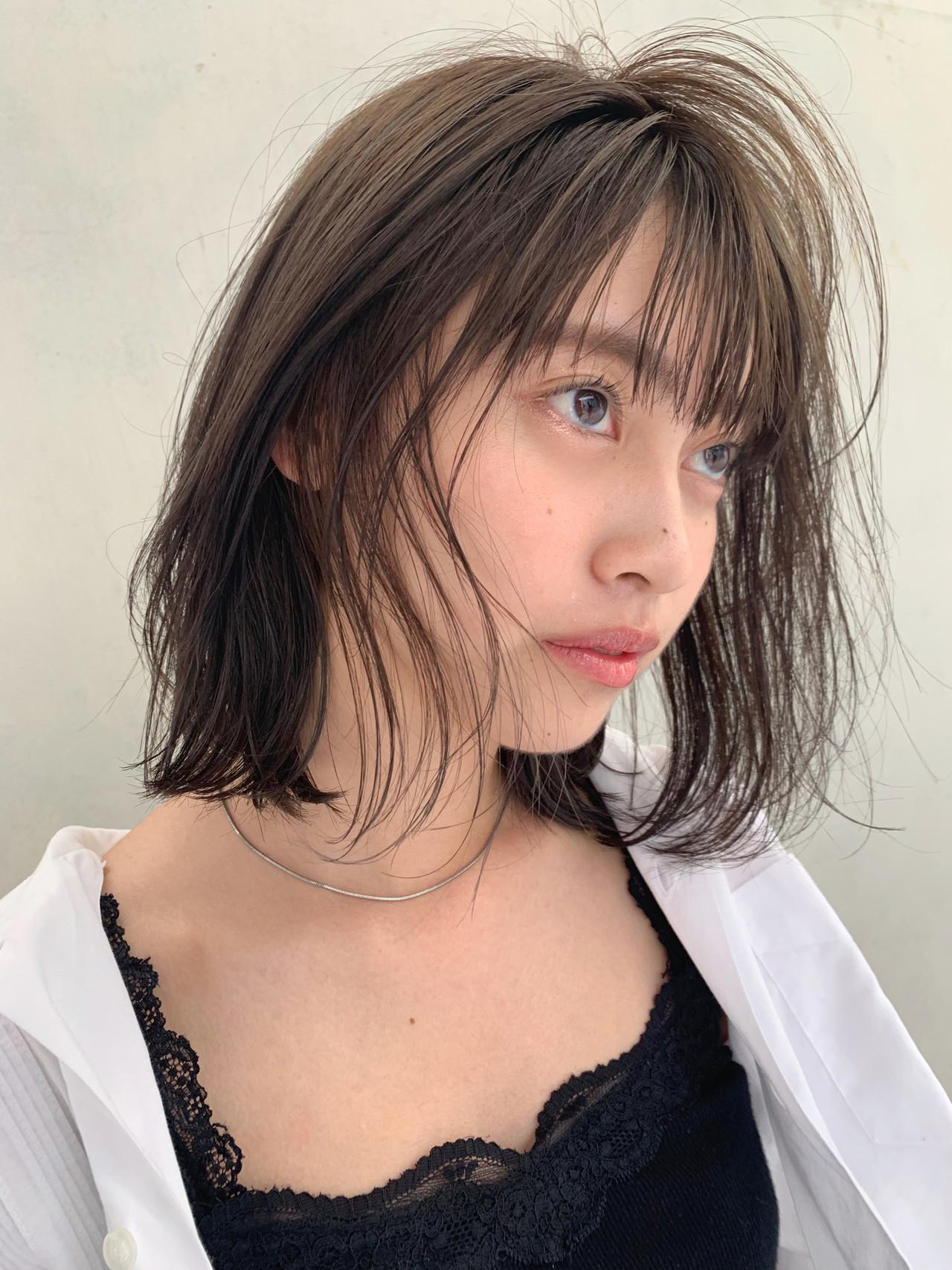 透明感にウットリ♡ツヤ黒髪ボブスタイル 井上 彩