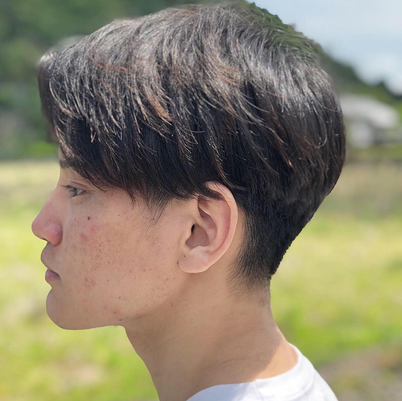 黒髪 モード メンズカット メンズヘア ヘアスタイルや髪型の写真・画像