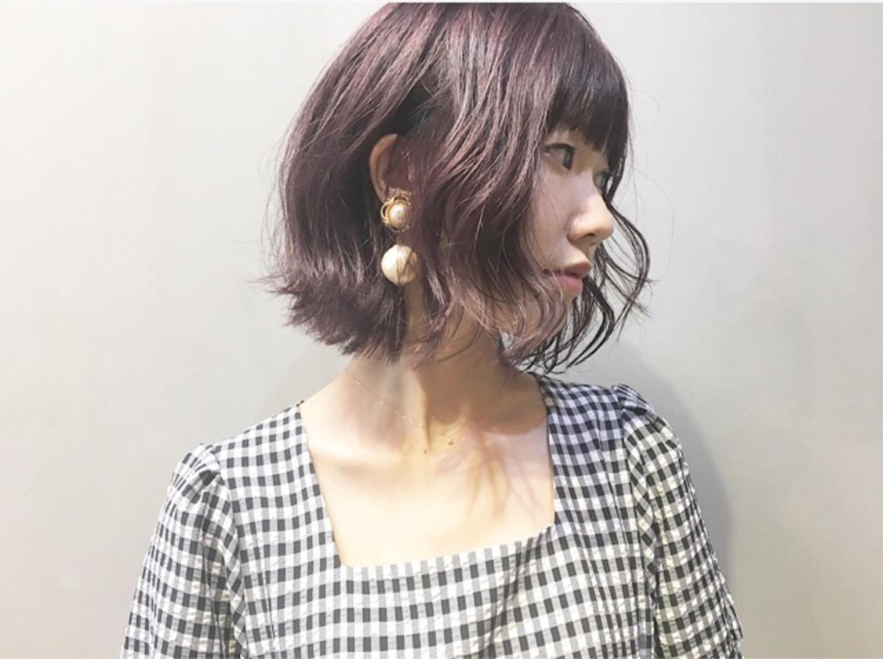 ピンクブラウン ピンクアッシュ ナチュラル ラベンダーピンク ヘアスタイルや髪型の写真・画像
