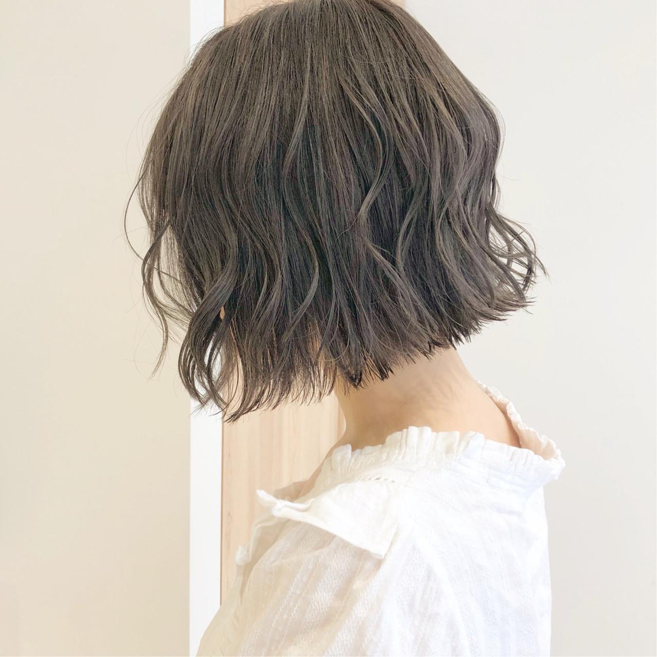 簡単ヘアアレンジ デート ナチュラル ボブ ヘアスタイルや髪型の写真・画像