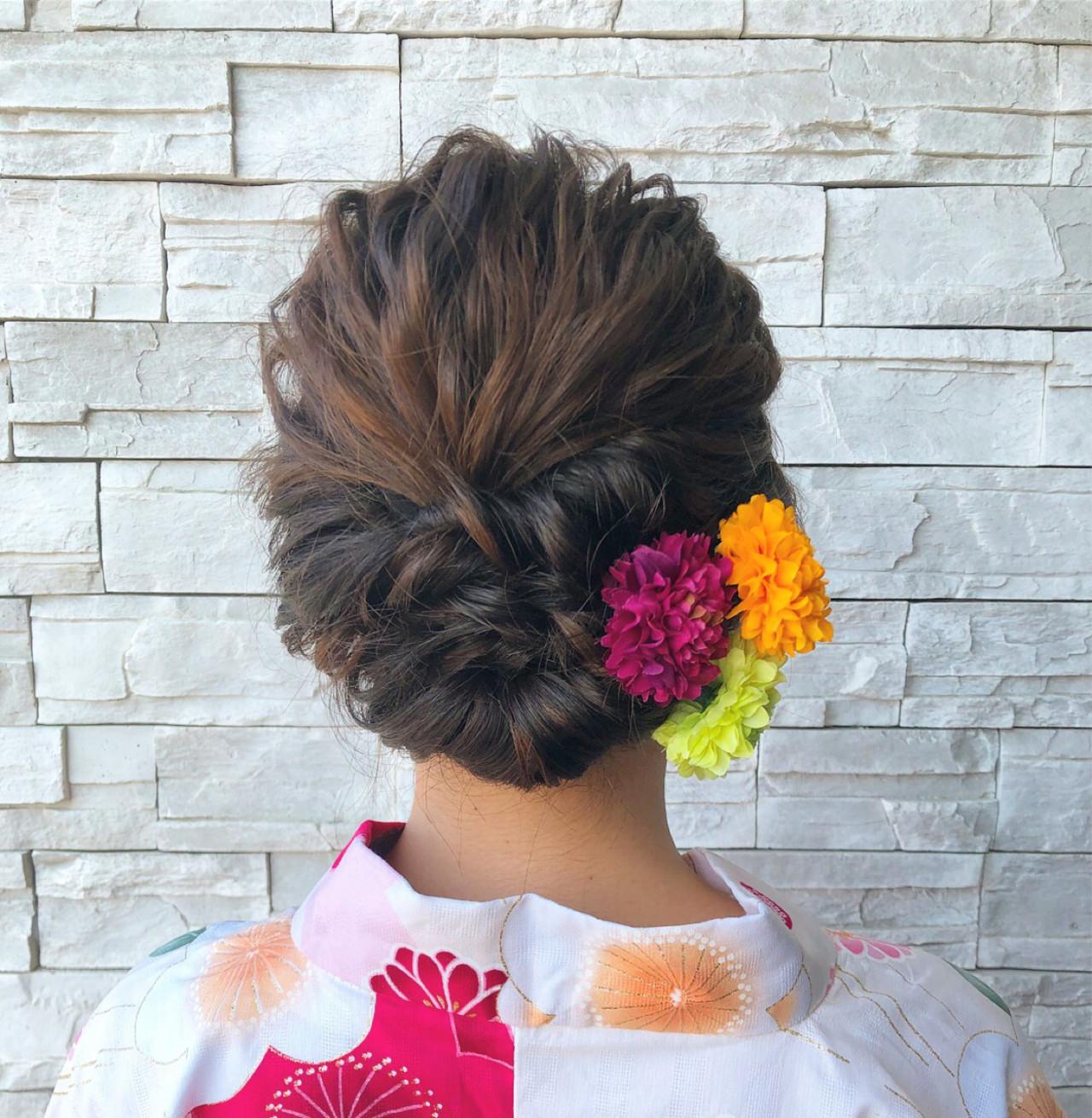 大人エレガントになれるセミロングの袴アレンジ 白井香織art to hair