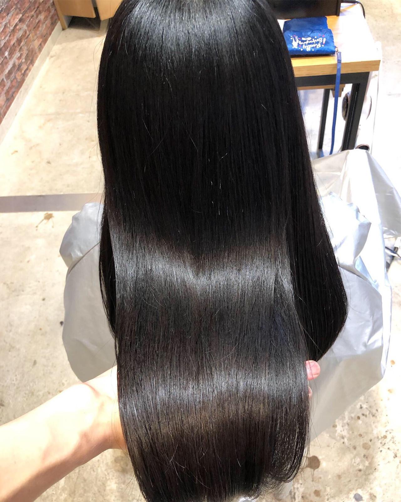 髪質改善トリートメント ロング デート ナチュラル ヘアスタイルや髪型の写真・画像