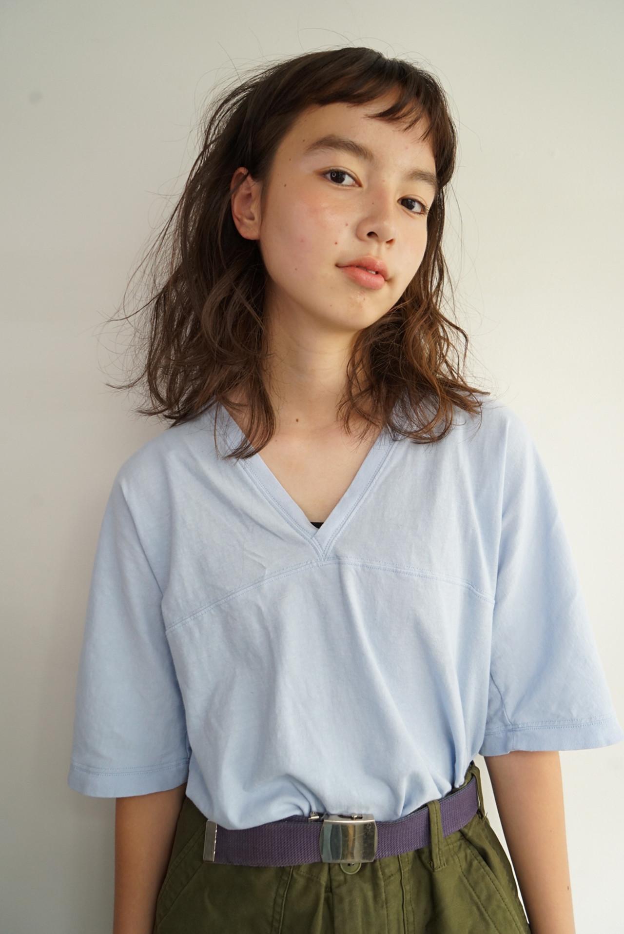 ミディアム 大人可愛い 大人かわいい ナチュラル ヘアスタイルや髪型の写真・画像