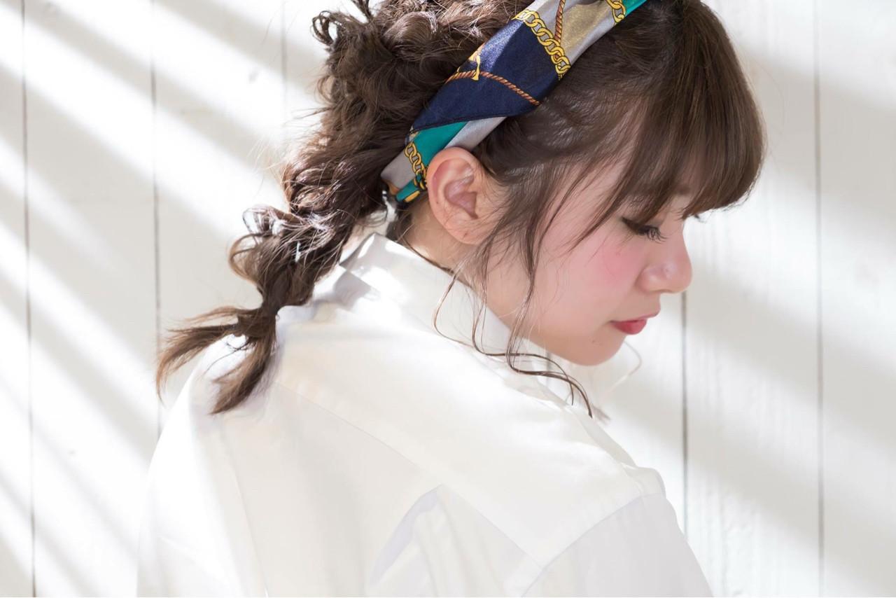 小顔 簡単ヘアアレンジ 大人女子 ミディアム ヘアスタイルや髪型の写真・画像