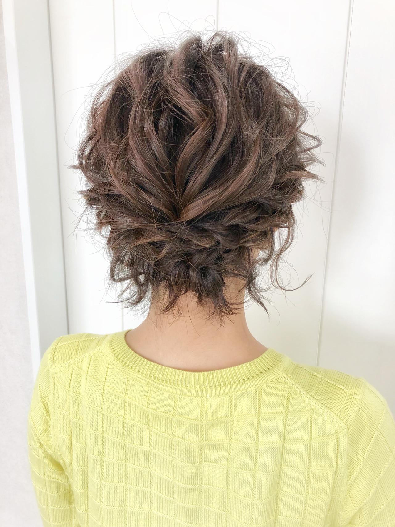 ヘアアレンジ お呼ばれヘア 結婚式ヘアアレンジ ナチュラル ヘアスタイルや髪型の写真・画像